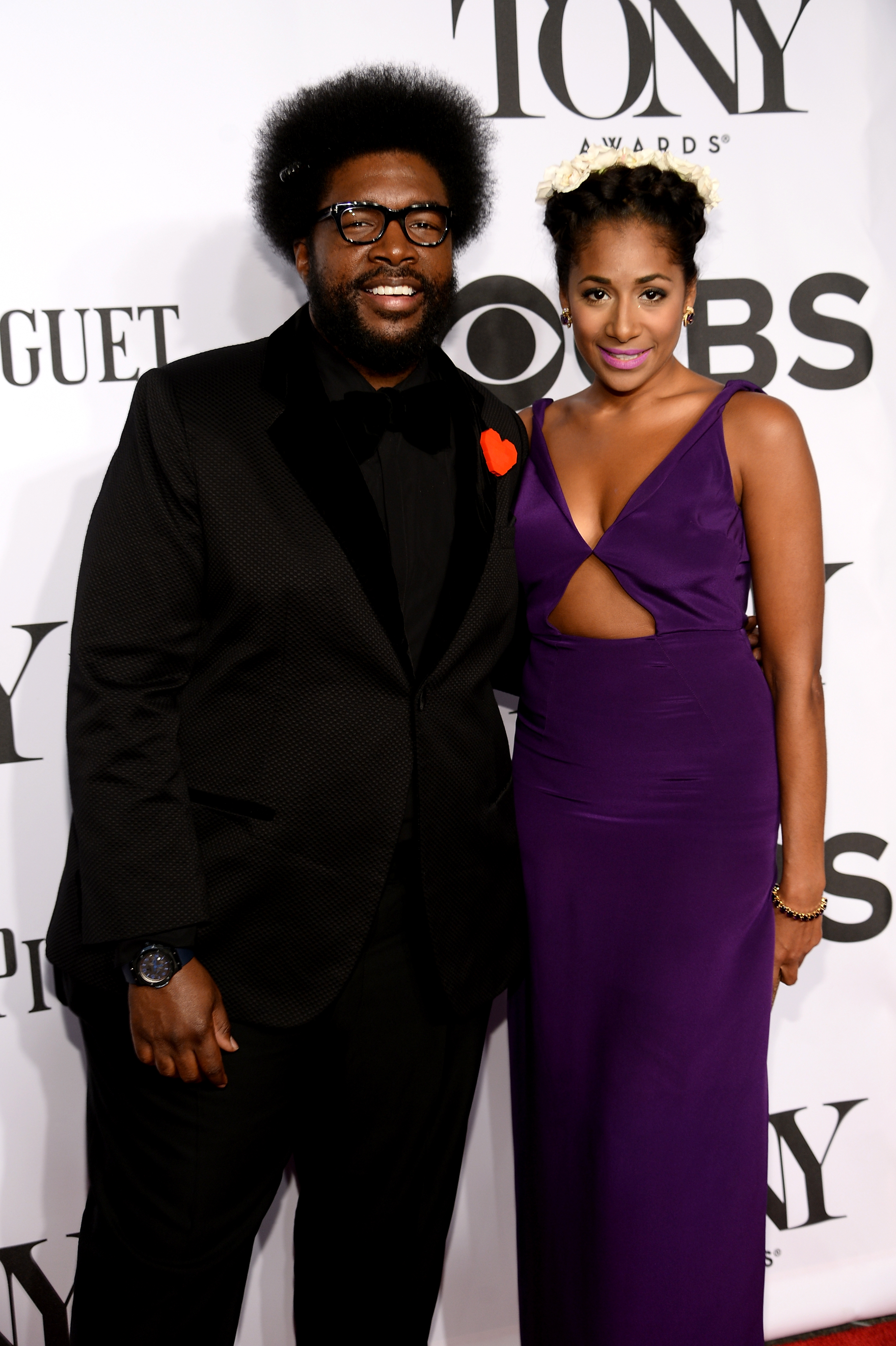 Questlove, left, attends the 68th Annual Tony Awards at Radio City Music Hall on June 8, 2014 in New York City.