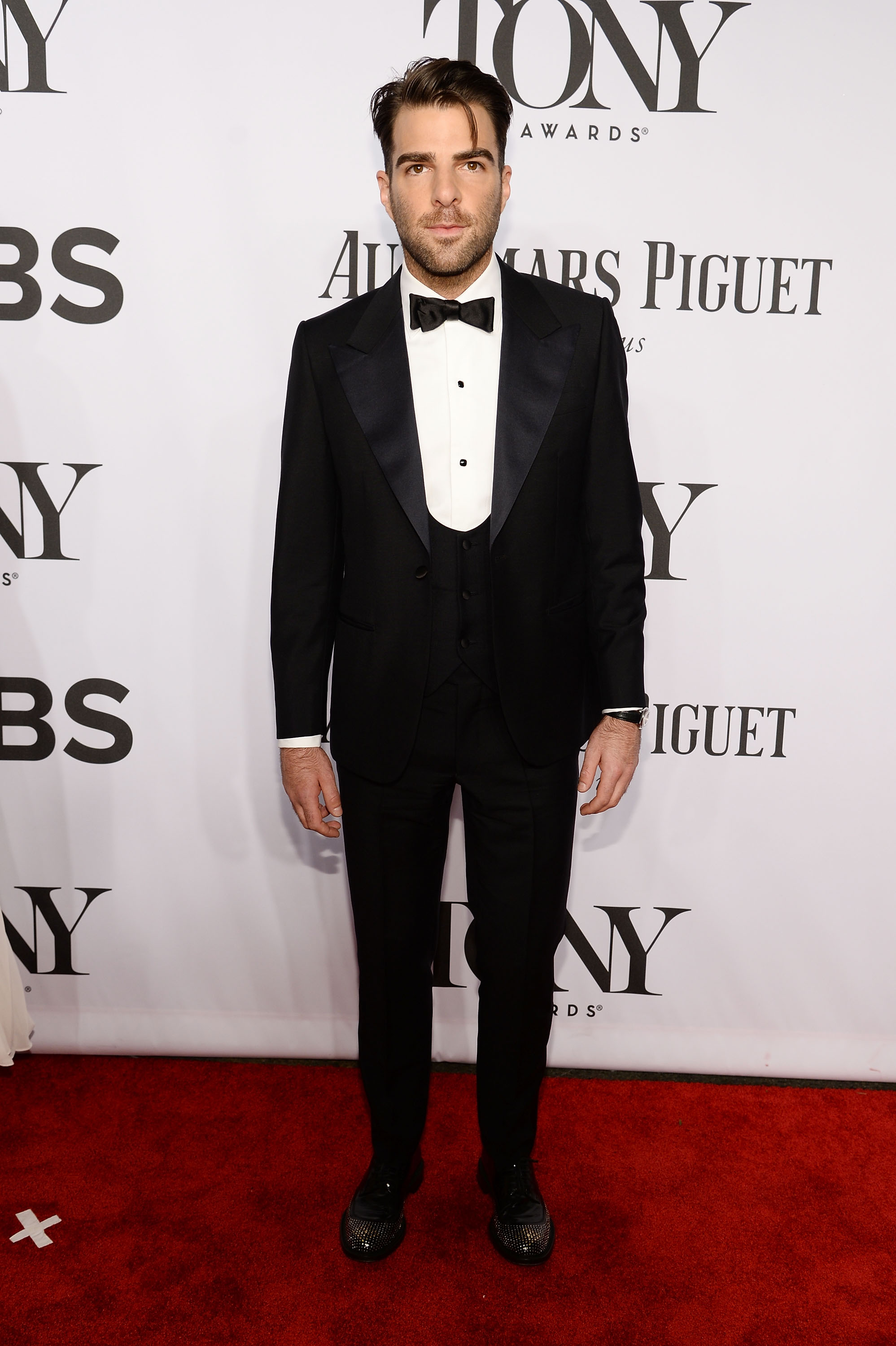 Actor Zachary Quinto attends the 68th Annual Tony Awards at Radio City Music Hall on June 8, 2014 in New York City.