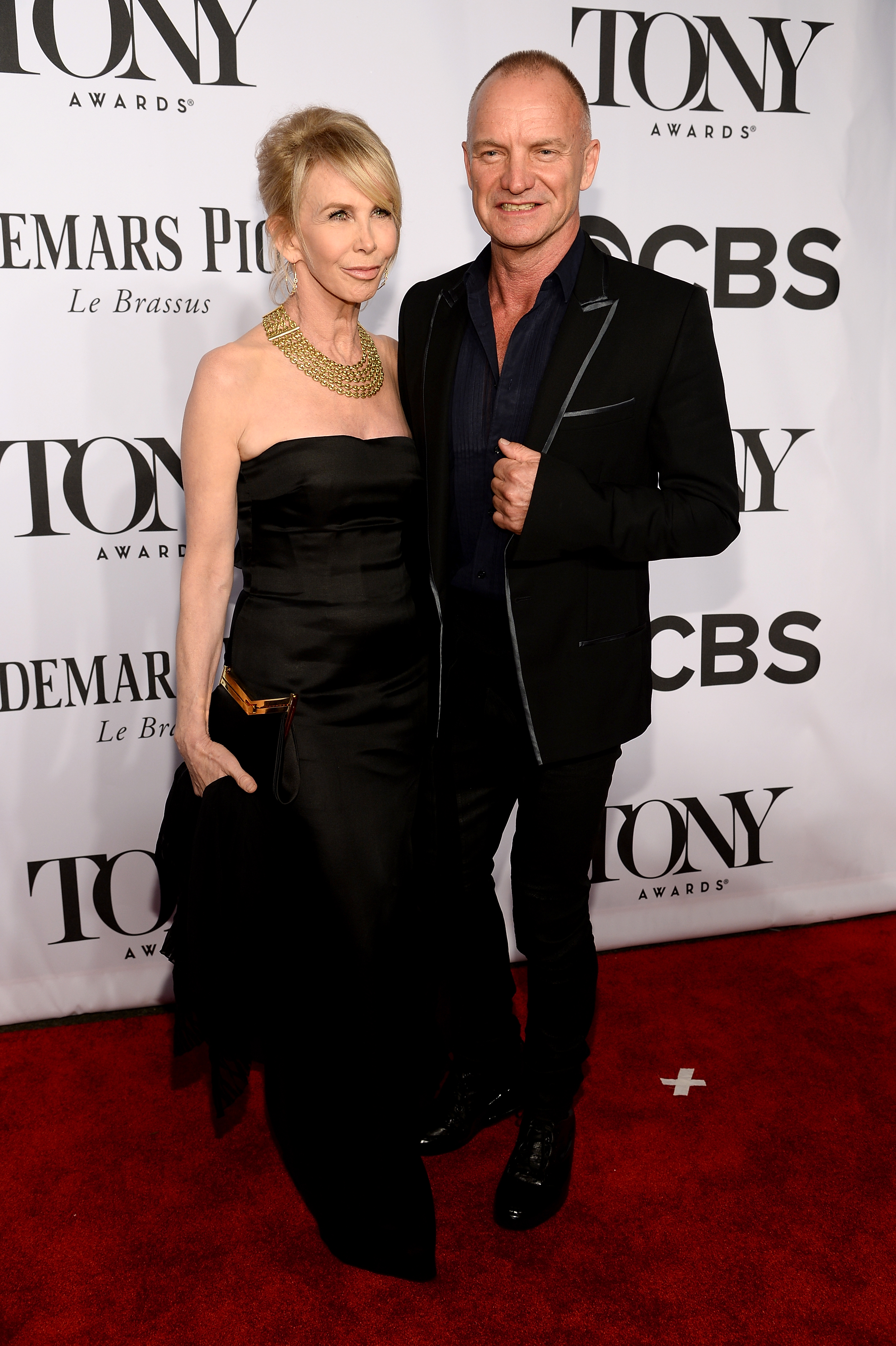Recording artist Sting and actress Trudie Styler attend the 68th Annual Tony Awards at Radio City Music Hall on June 8, 2014 in New York City.