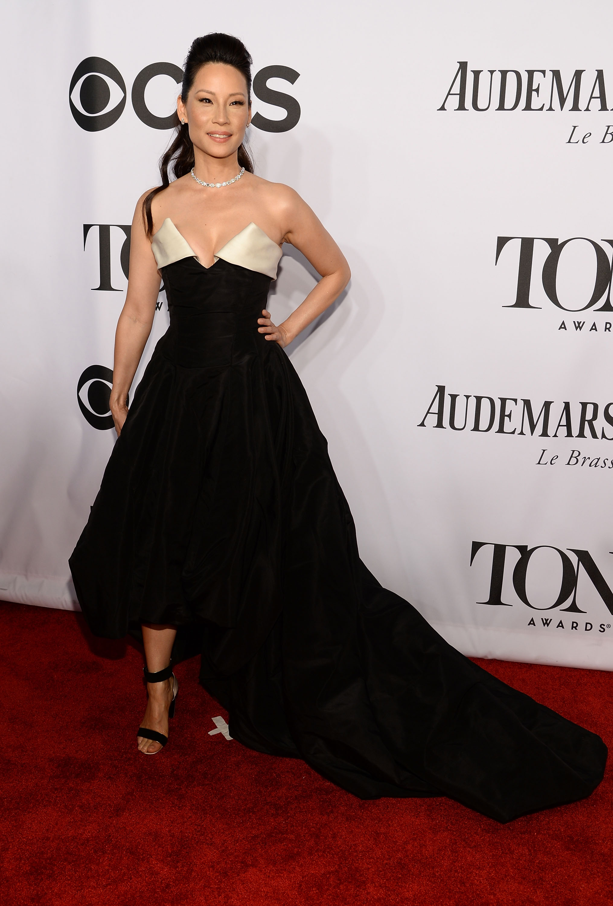 Actress Lucy Liu attends the 68th Annual Tony Awards at Radio City Music Hall on June 8, 2014 in New York City.