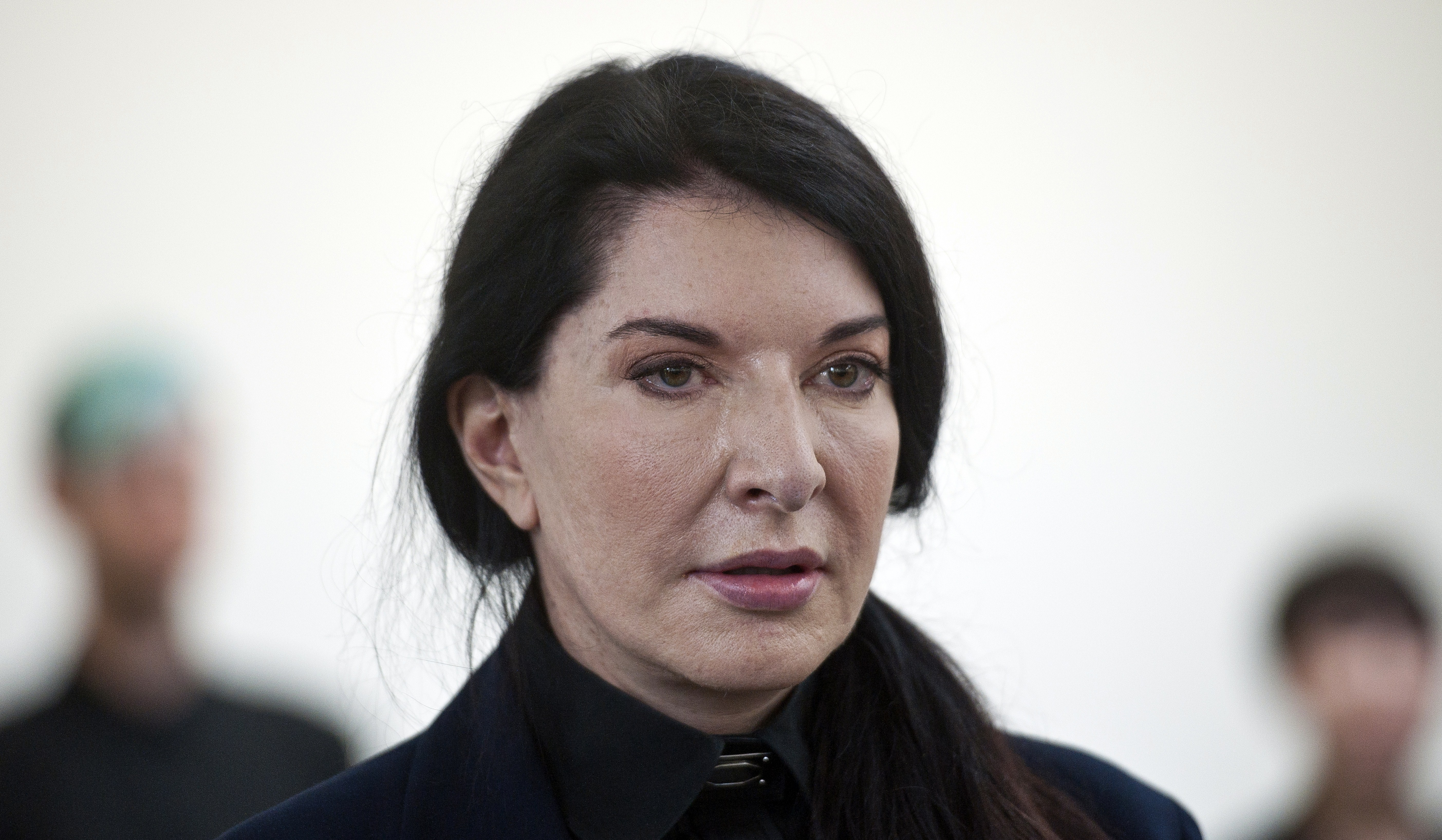 Serbian-born performance artist Marina Abramovic attends a press conference to announce her latest durational performance at the Serpentine Gallery in Hyde Park, central London on June 9, 2014. The performance will last for a total of 512 hours and will begin on June 11.