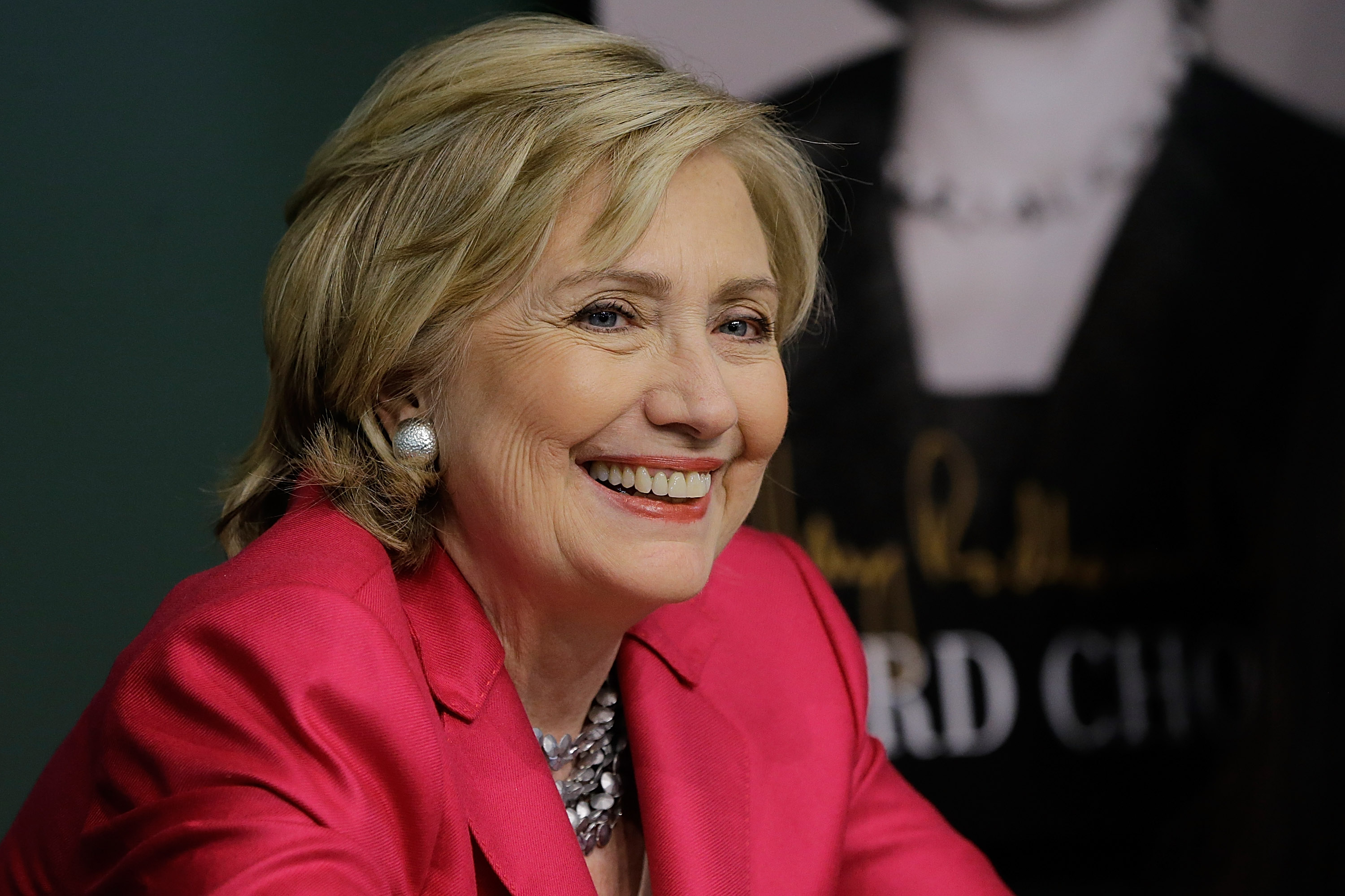 Former US Secretary of State Hillary Rodham Clinton  promotes  Hard Choices  at Barnes & Noble Union Square on June 10, 2014 in New York City.