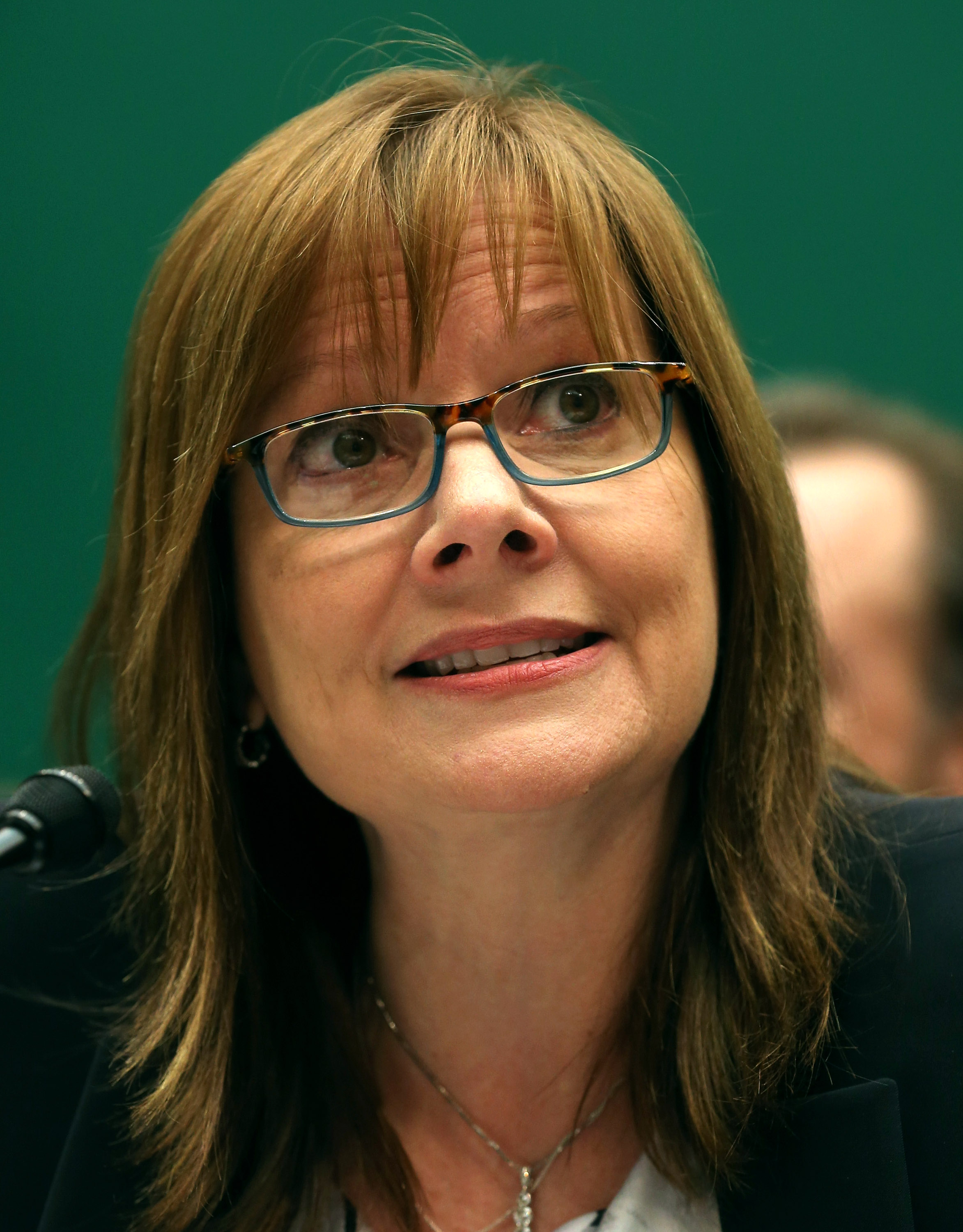 General Motors CEO Mary Barra testifies during a House Energy and Commerce Committee hearing on Capitol Hill on June 18, 2014 in Washington, DC.  (Mark Wilson--Getty Images)