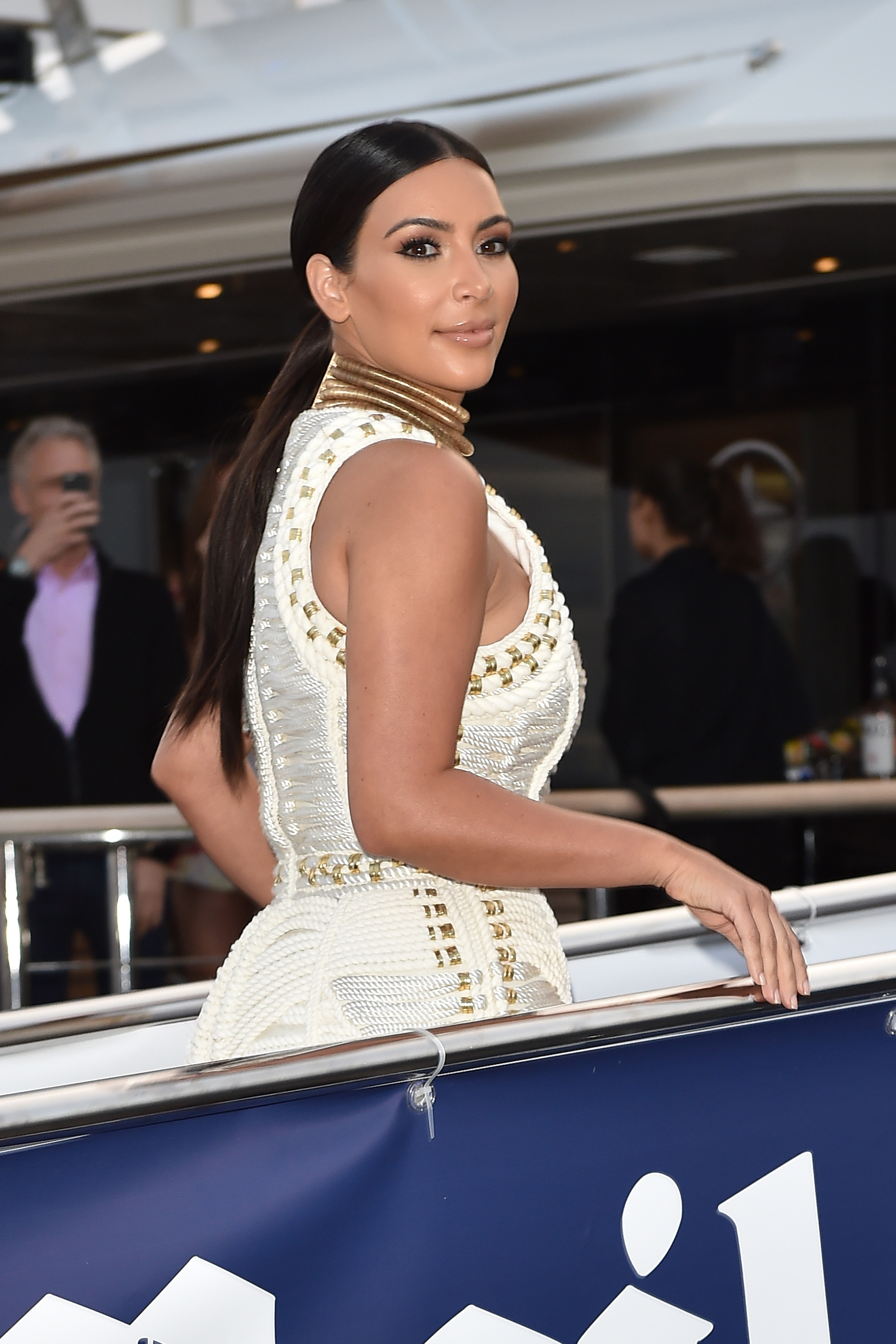 Kim Kardashian attends The MailOnline Cannes Party on June 18, 2014, in Cannes, France.