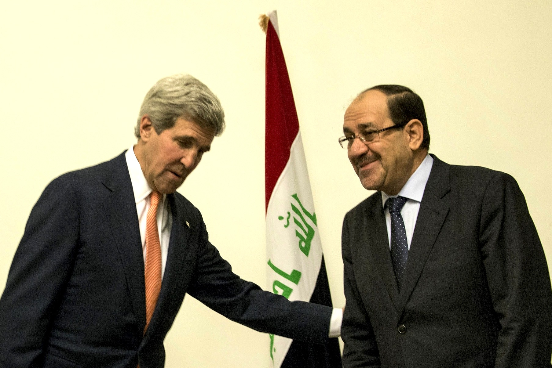 Secretary of State John Kerry and Iraqi Prime Minister Nouri al-Maliki met Monday in Baghdad.