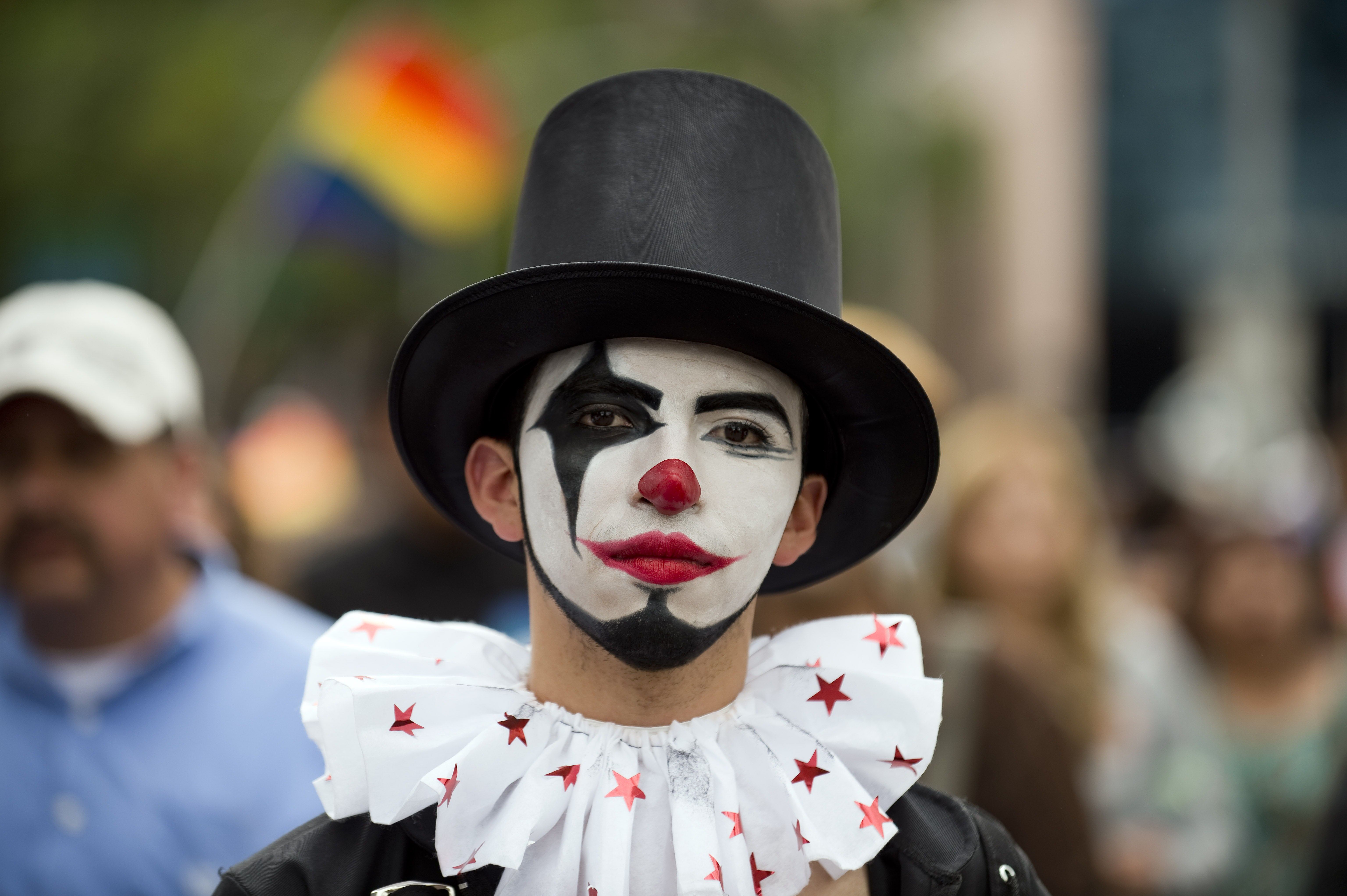 A person participates in the Gay Pride Parade in Mexico City, on June 28, 2014.