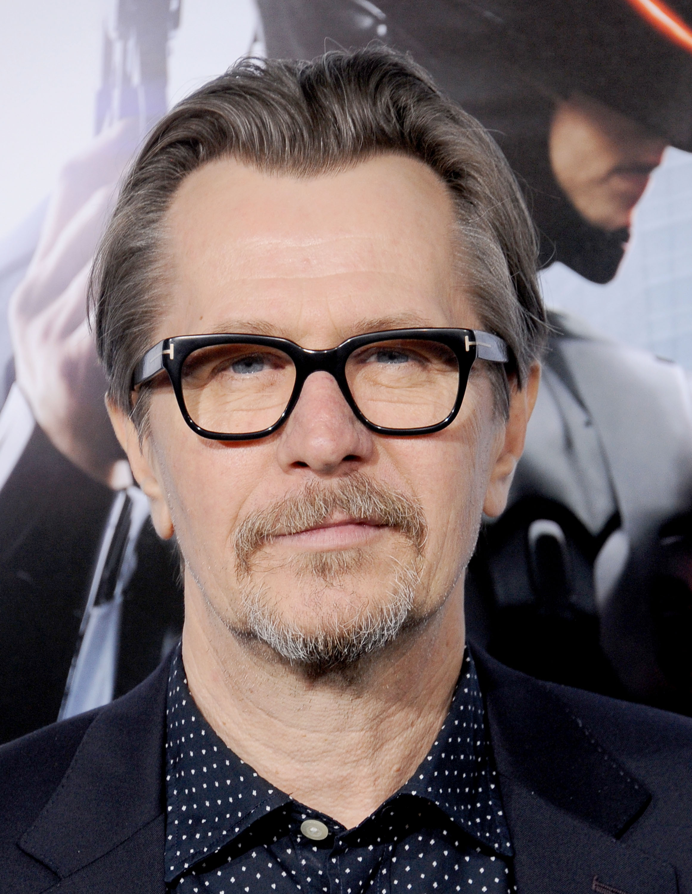 Actor Gary Oldman arrives at the Los Angeles premiere of  Robocop