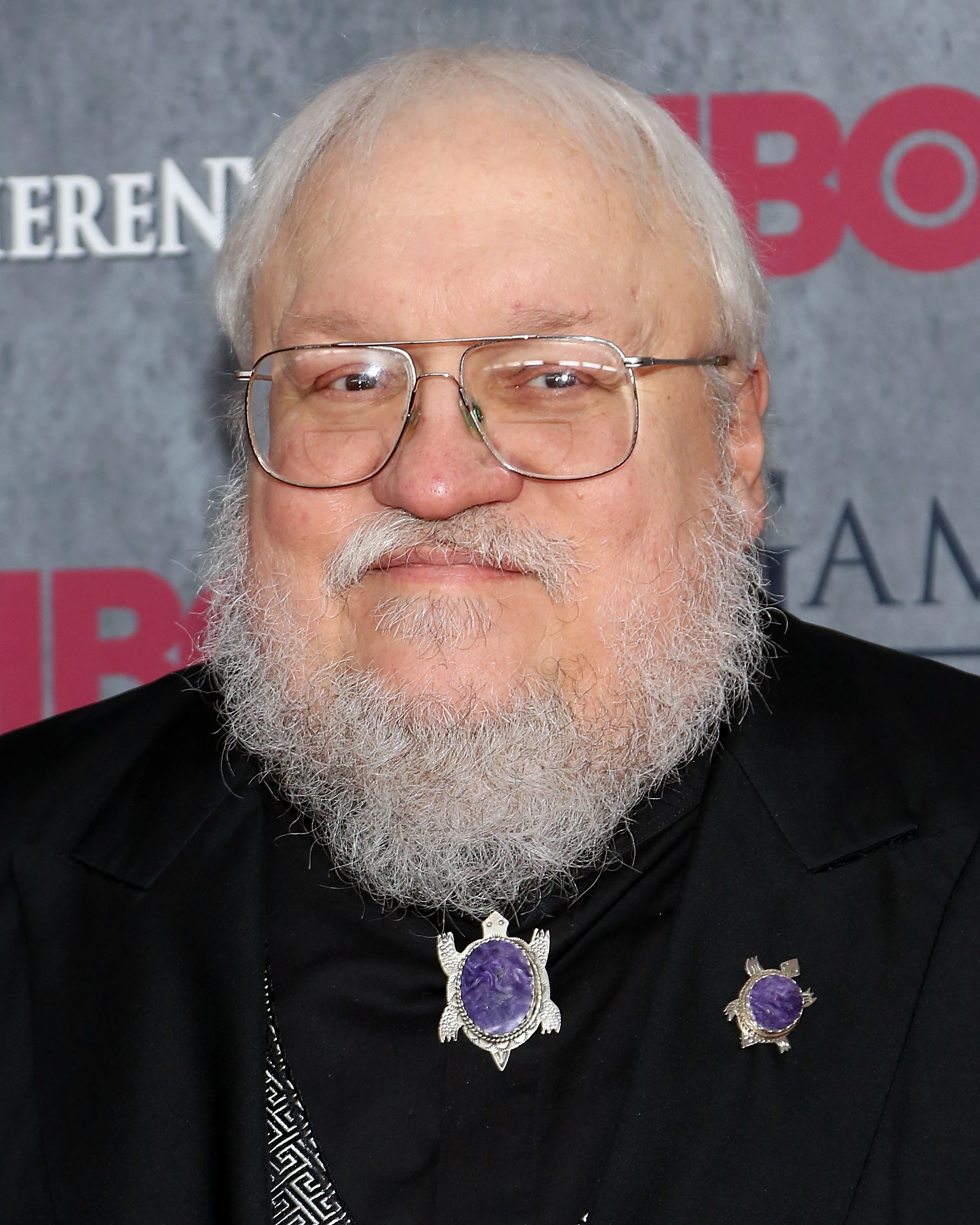 Series creator George R.R. Martin attends the  Game Of Thrones  Season 4 premiere