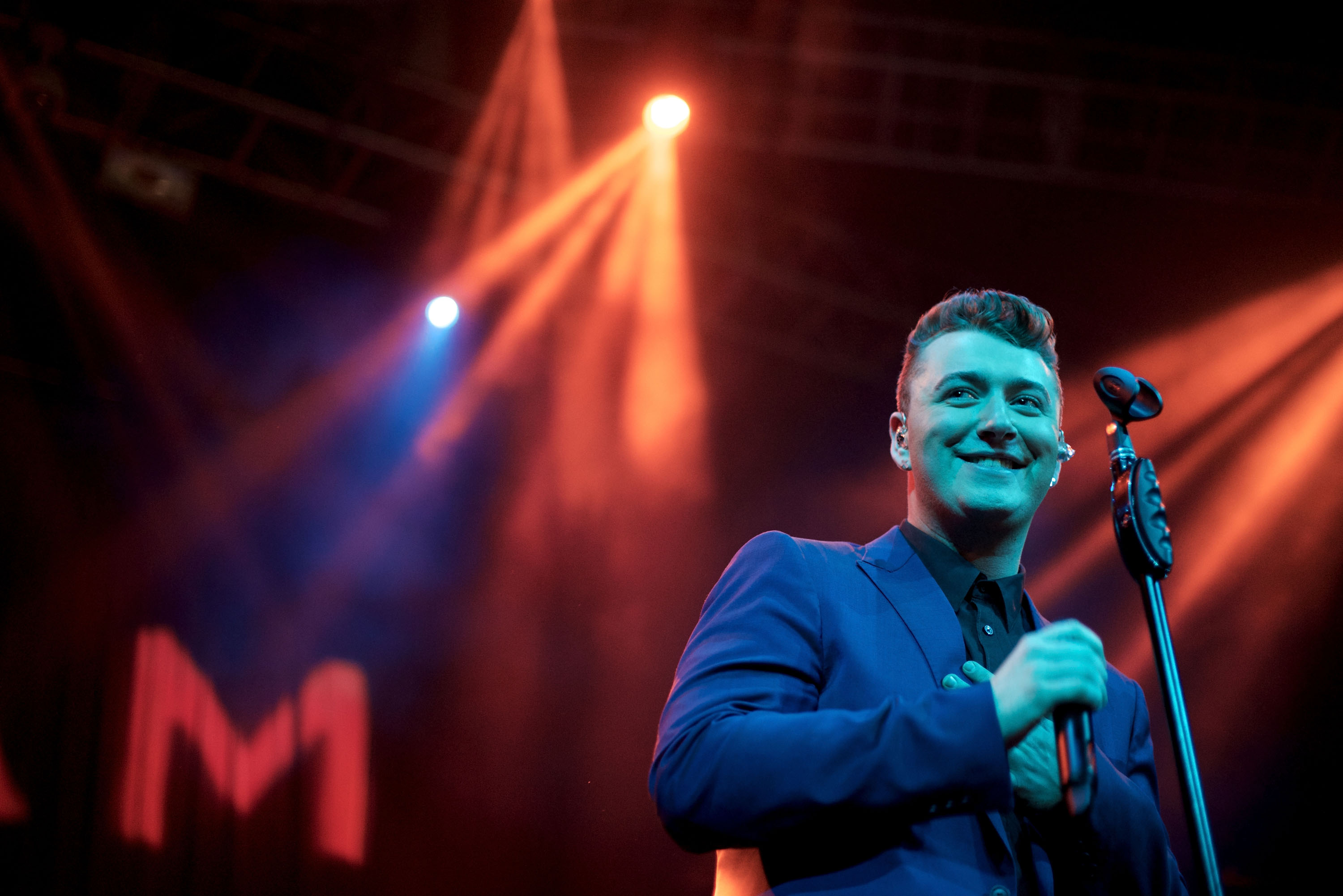 Sam Smith performs at a Los Angeles concert