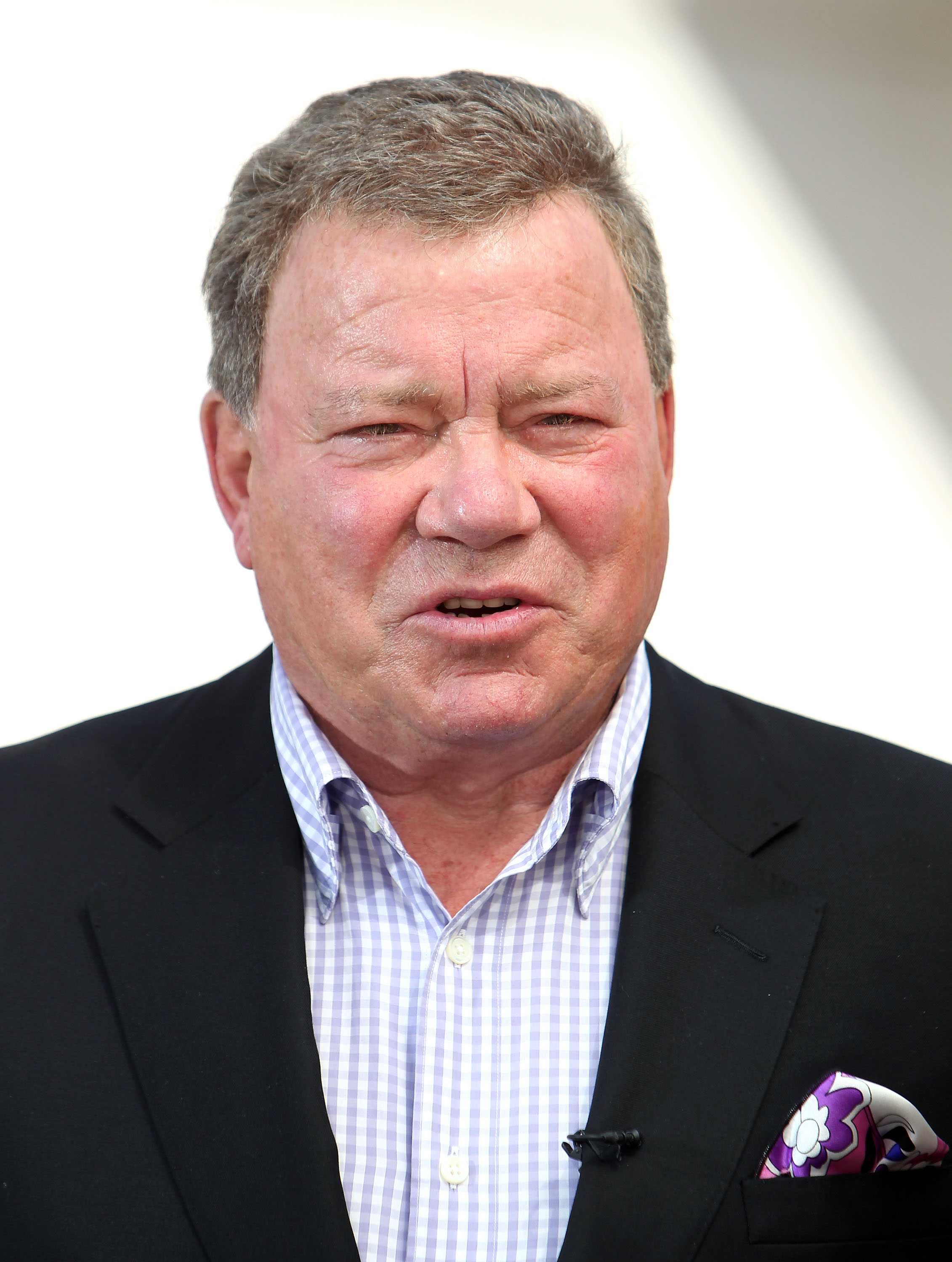 William Shatner appears on  EXTRA  at Westfield Century City