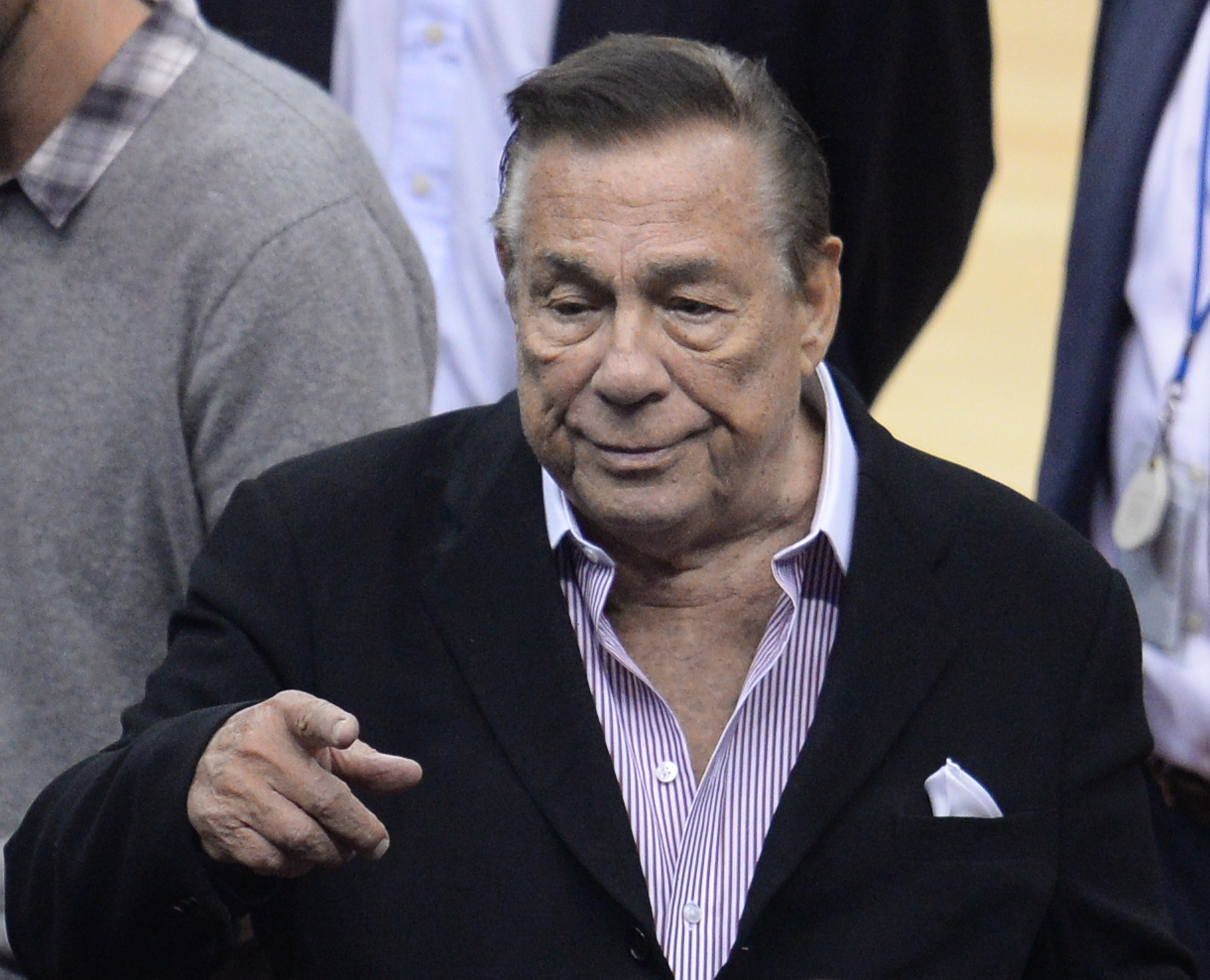 Los Angeles Clippers owner Donald Sterling attends the NBA playoff game between the Clippers and the Golden State Warriors on April 21, 2014 at Staples Center in Los Angeles.