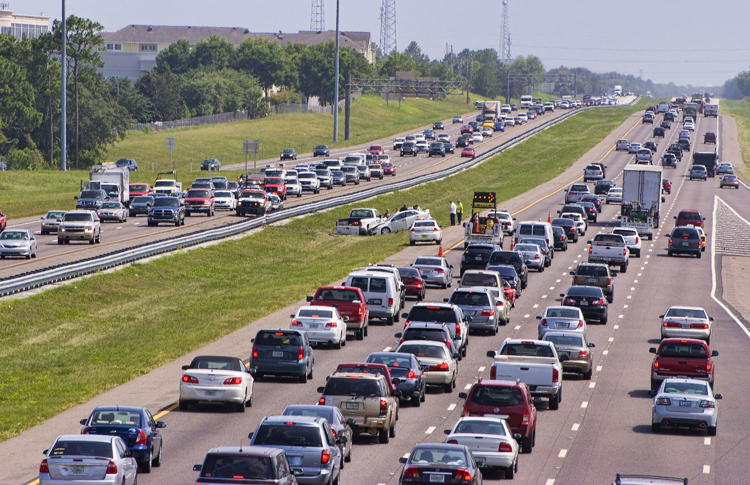 Traffic on the I-4 Interstate Highway in Florida. According to a study by Real Estate blog Movoto, Florida ranks as the most stressful state in America.