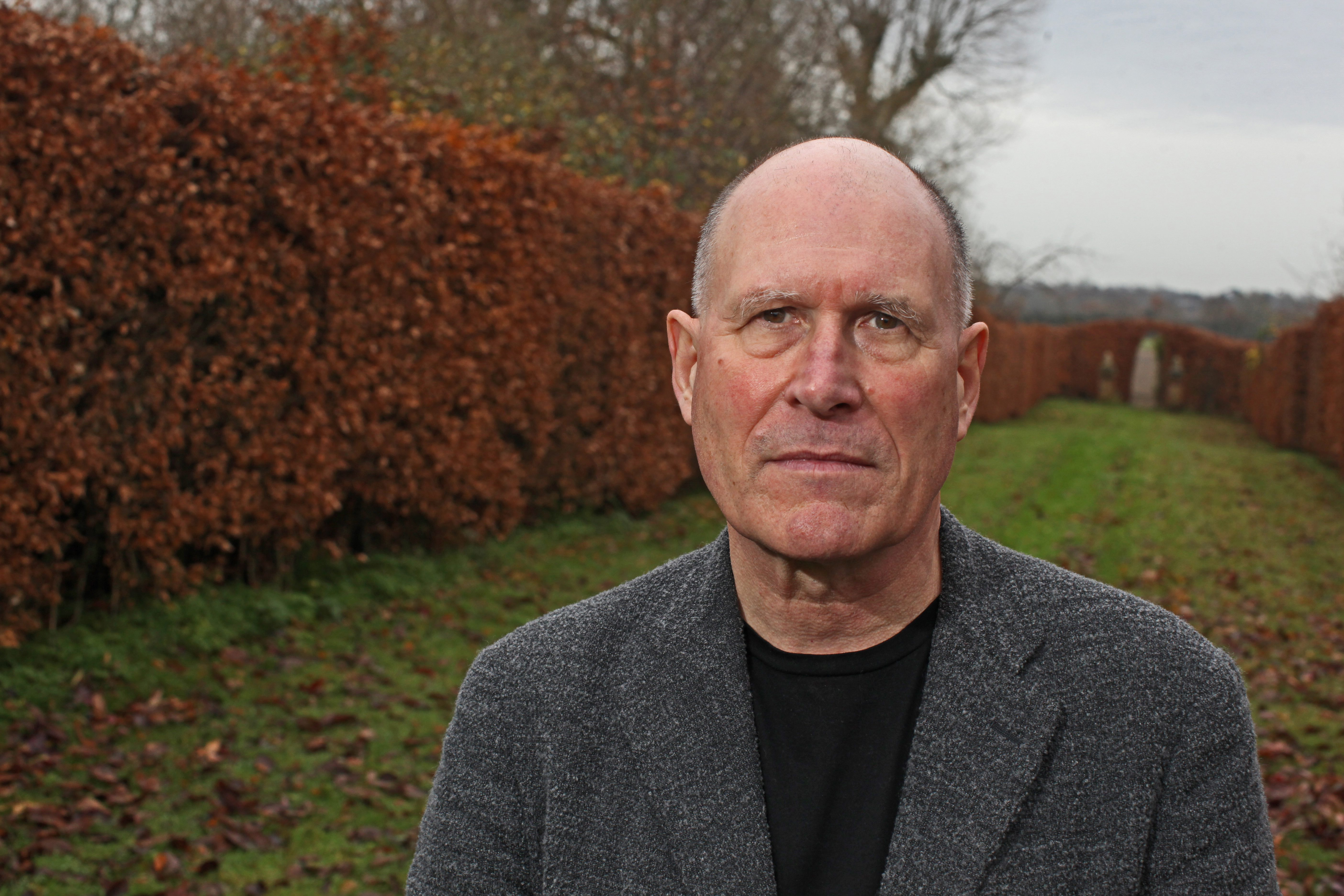British playwright, novelist and screenwriter William Nicholson at his home near Lewes, East Sussex, 13th December 2012.