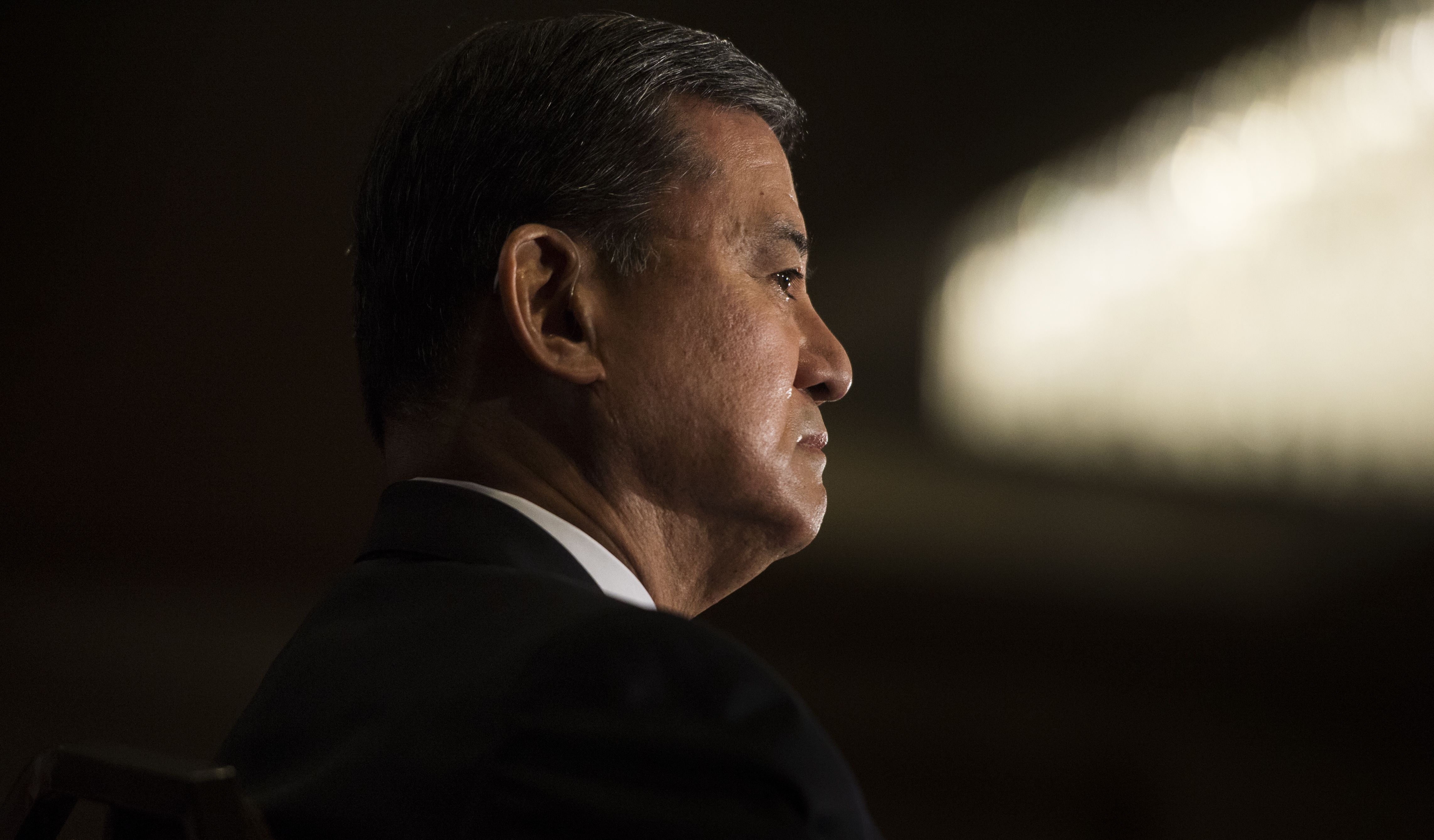 Veterans Affairs Secretary General Eric Shinseki gives the keynote address at the National Coalition for Homeless Veterans Annual Conference in Washington, D.C., on Friday, May 30, 2014.