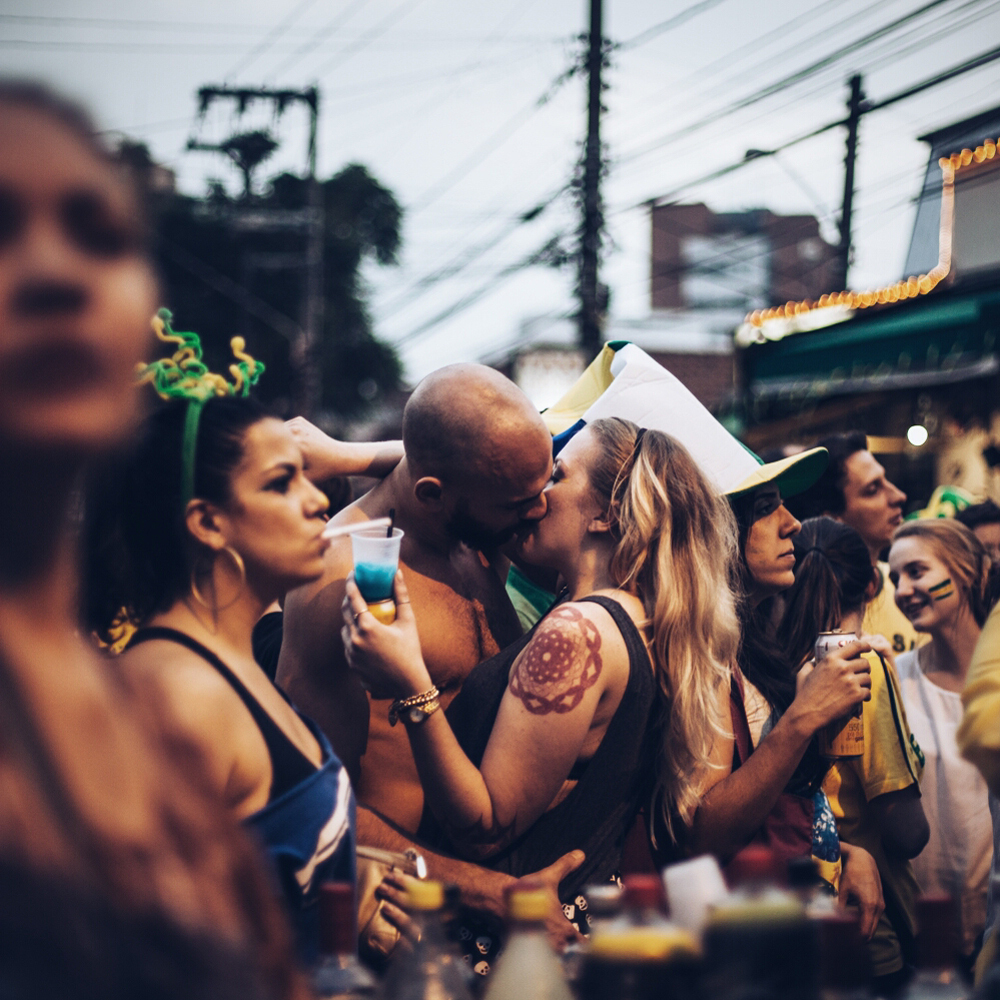 June 17, 2014. Thousands of football fans took over the streets and filled bars In Vila Madalena, Sao Paulo, to watch the Brazil versus Mexico. The general mood was of disappointment as the game ended in a 0-0 draw.
