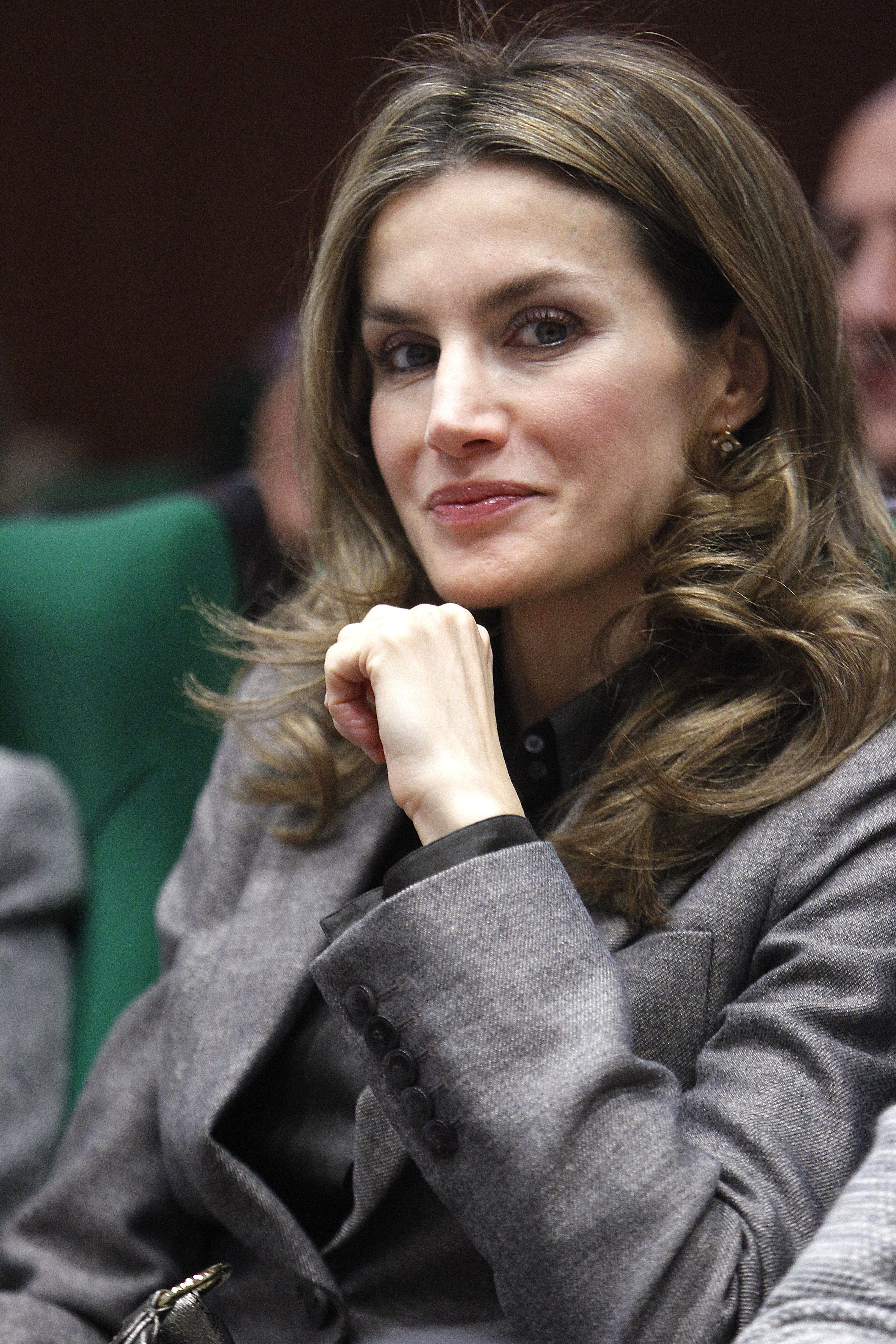 Princess Letizia attends the conference 'The Imporance of Cancer Research' organized by the Spanish Association Against Cancer (AECC) November 13, 2012 in Madrid.