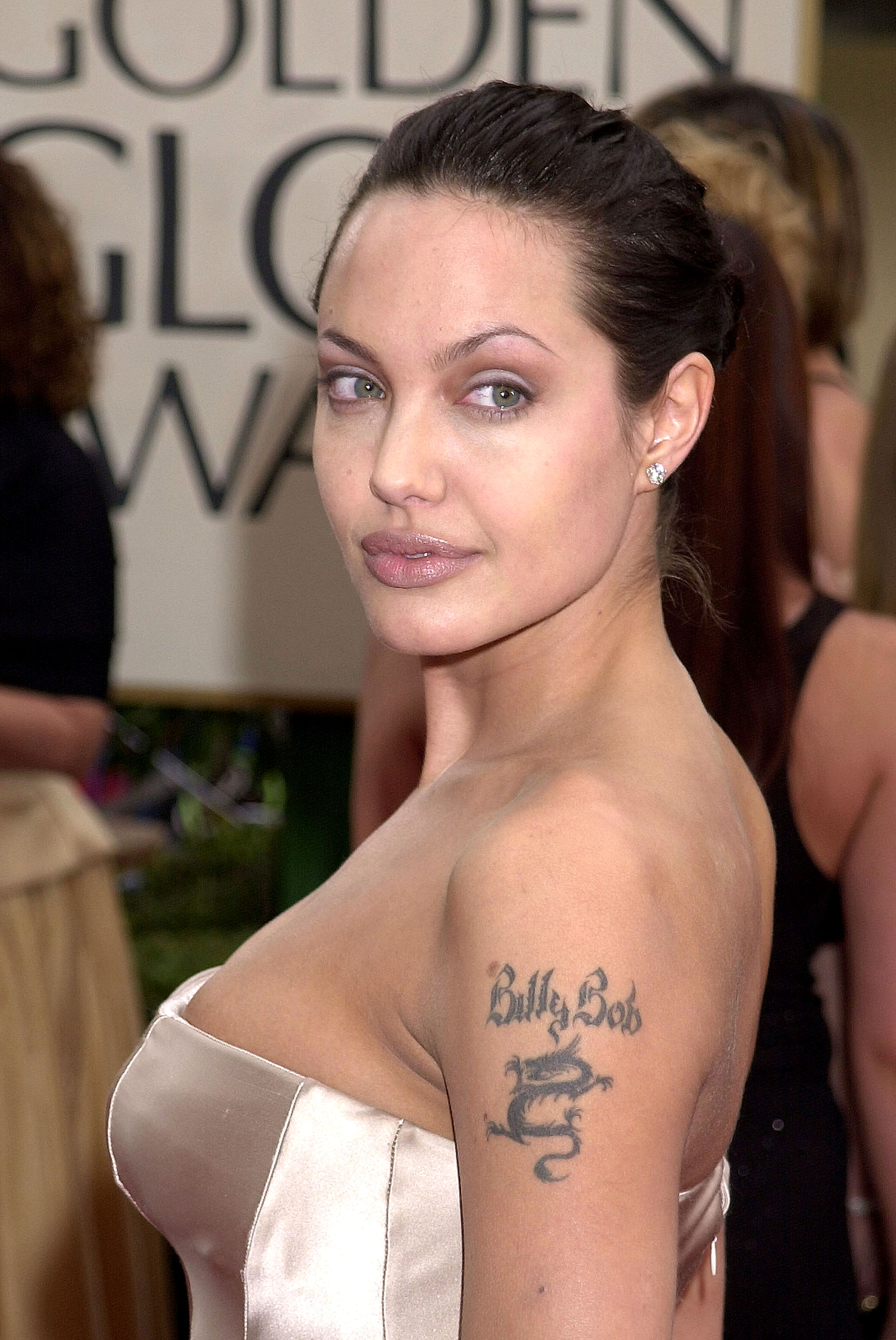 Angelina Jolie at the Beverly Hilton Hotel in Beverly Hills, California.
