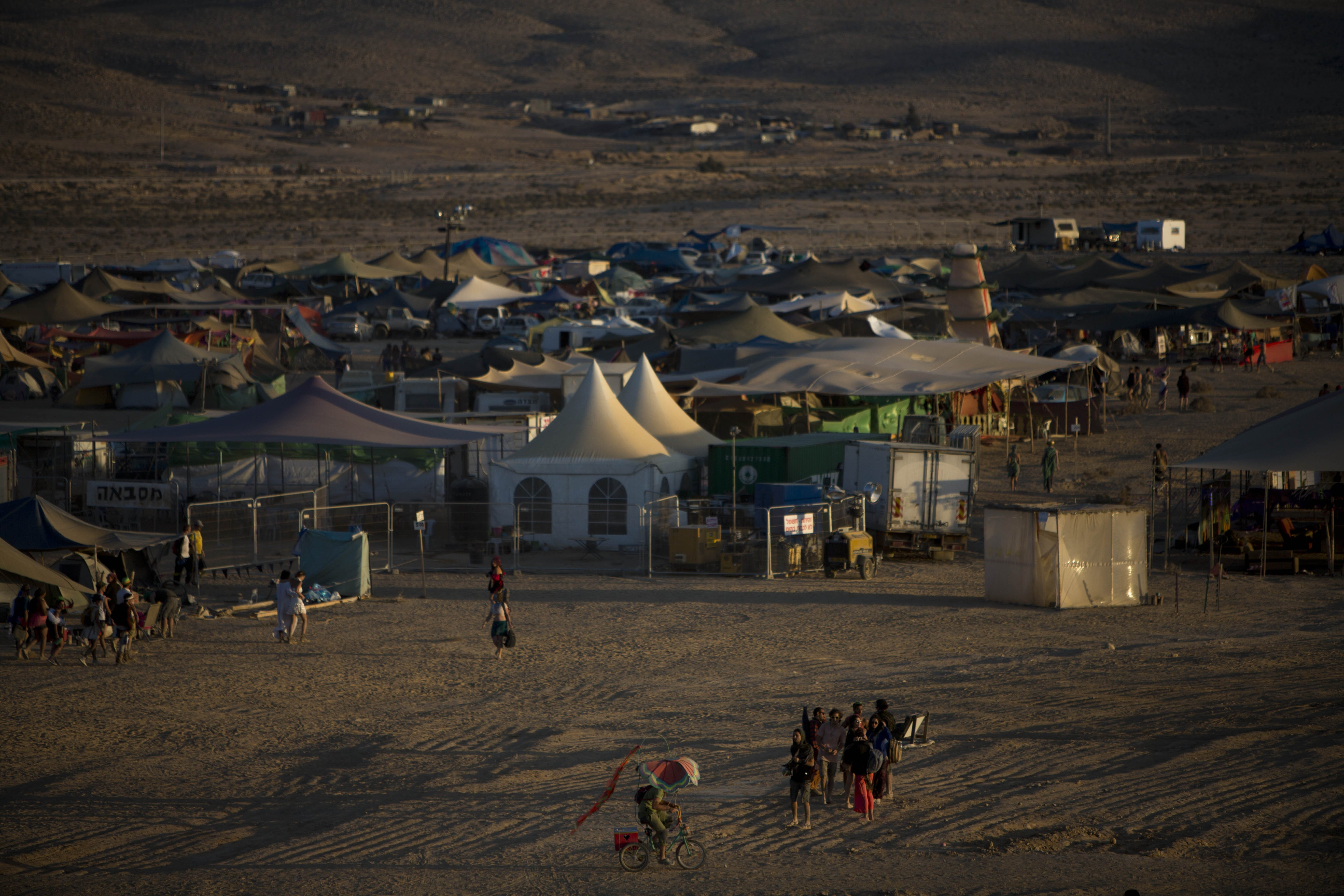 A general view of the playa in the Negev Desert, Israel on June 6, 2014.