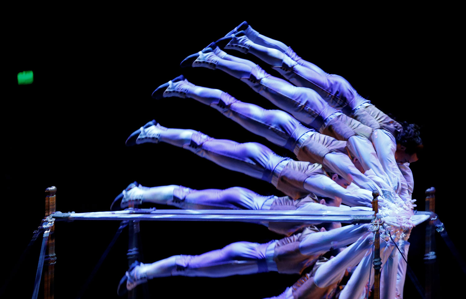 A member of Cirque du Soleil performs in Hamburg on Jan. 9, 2013 during the premiere of the show  Corteo.