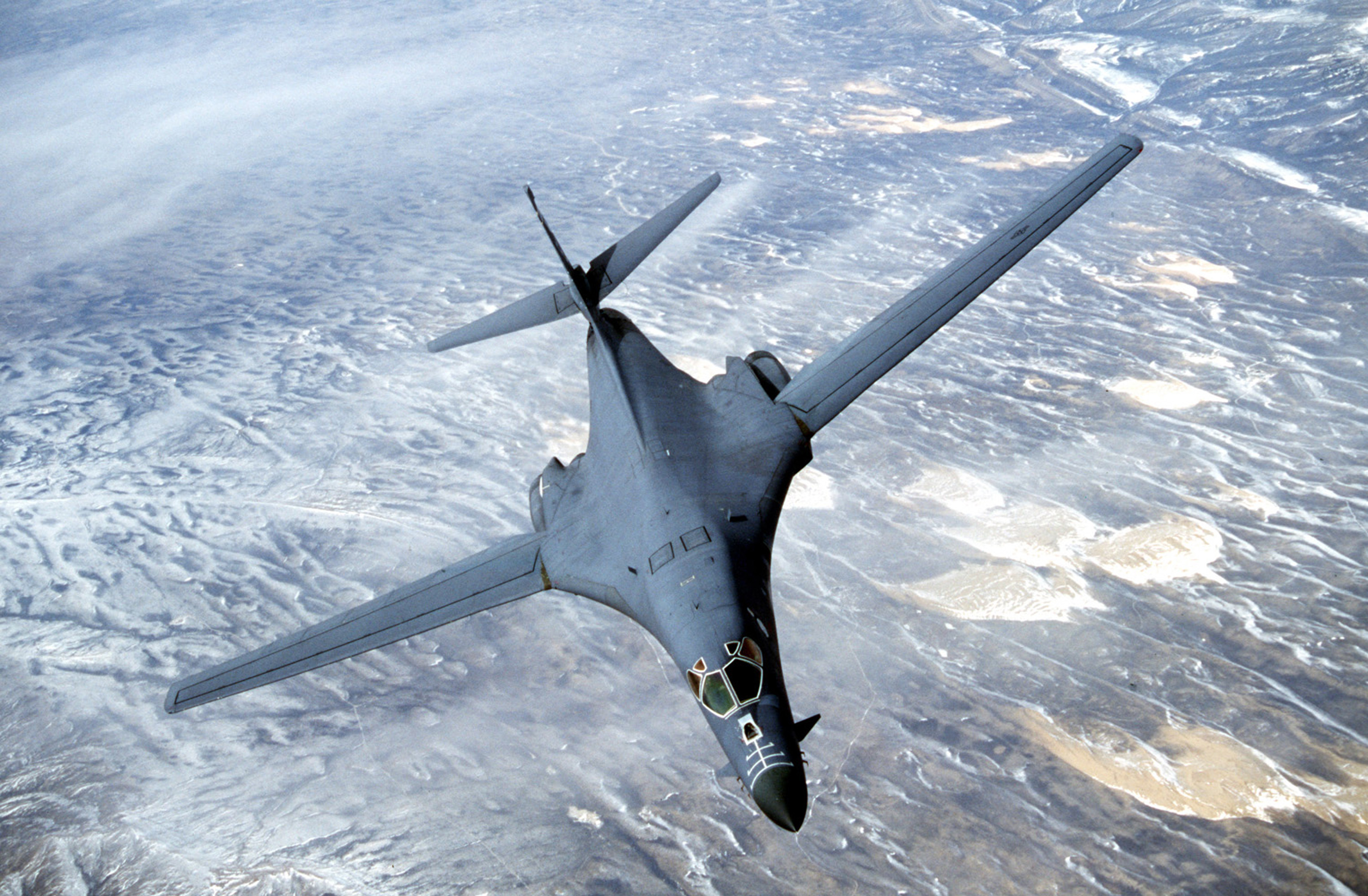 A B-1 bomber over Afghanistan.