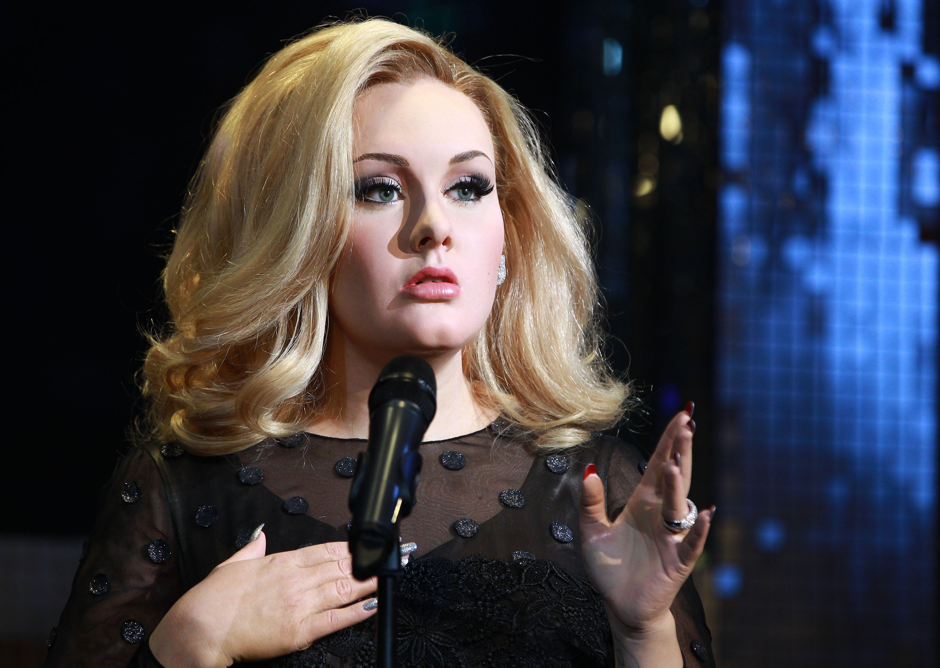 Adele's new waxwork is unveiled at Madame Tussauds on July 3, 2013 in London.