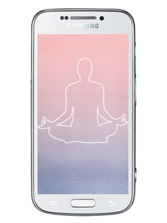Person Doing Yoga Pose on iPhone