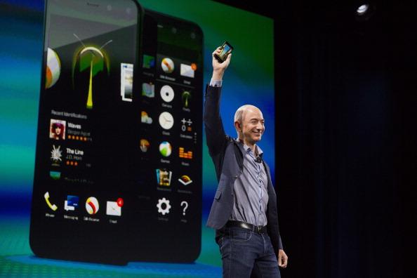 Amazon CEO Jeff Bezos unveils the new Fire Phone June 18, 2014.