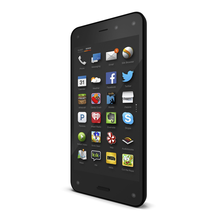 A handout image of the new Amazon Fire Phone was introduced on June 18, 2014 by the company.