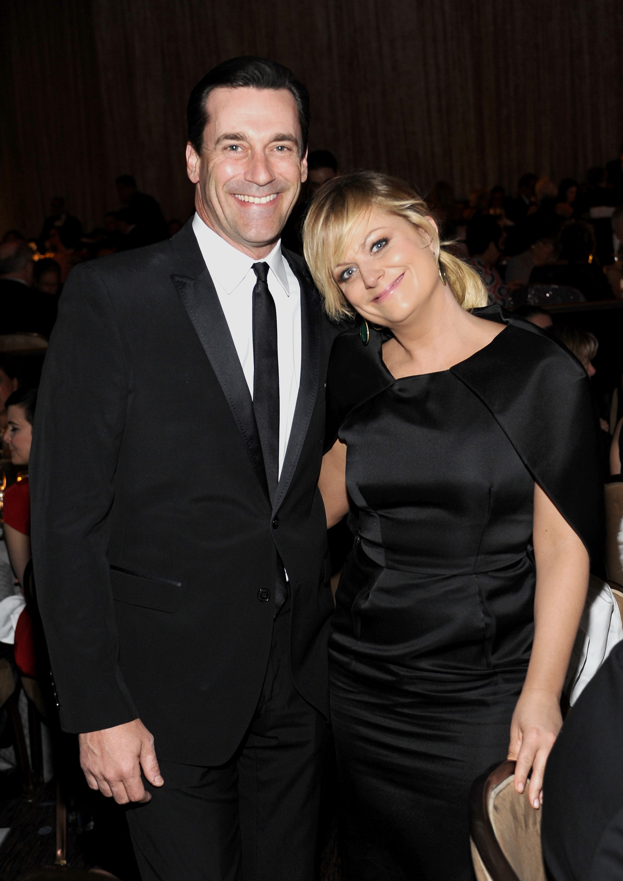Actors Jon Hamm and Amy Poehler attend the 15th Annual Costume Designers Guild Awards at The Beverly Hilton Hotel on February 19, 2013 in Beverly Hills, California.