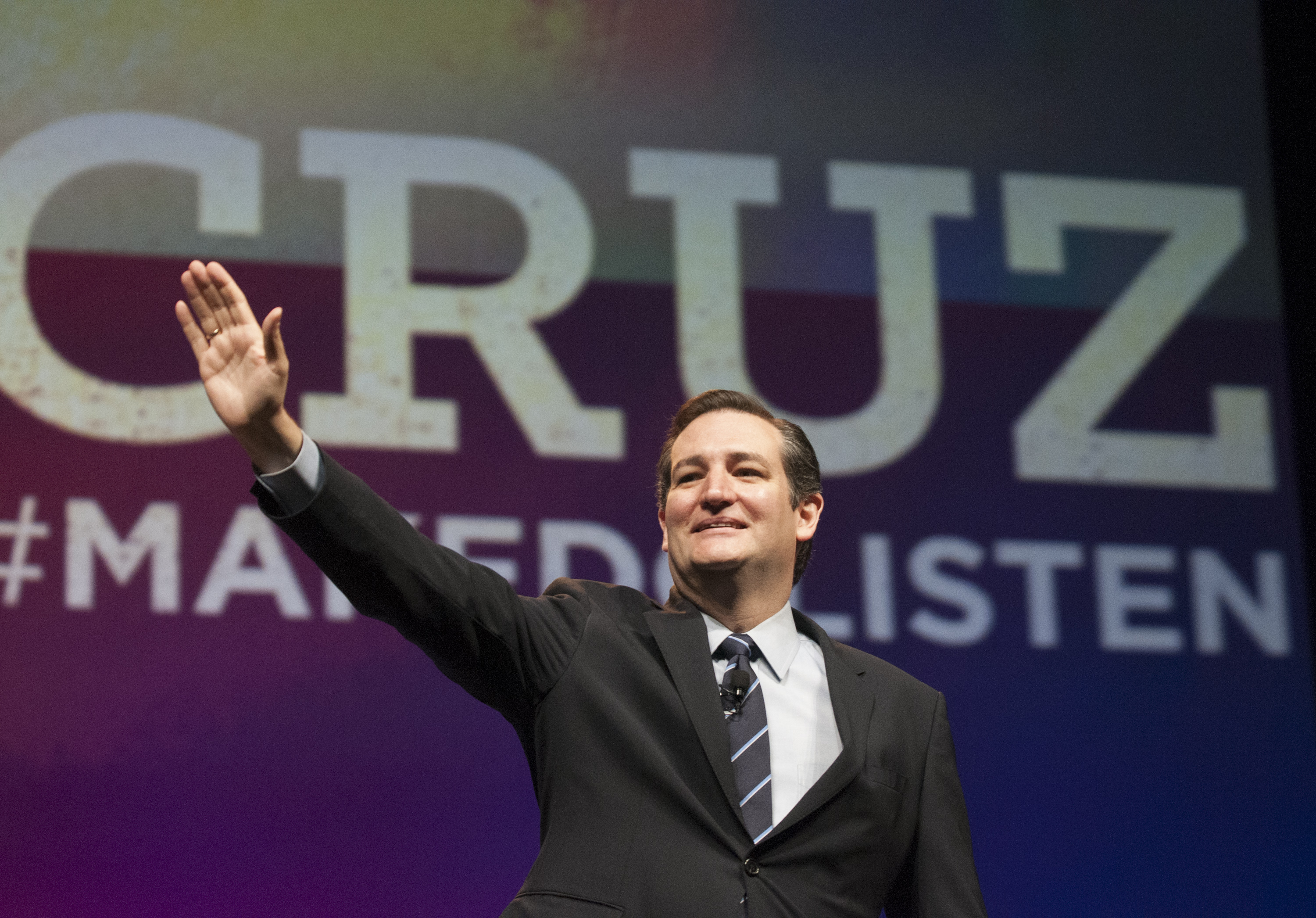 U.S. Sen. Ted Cruz promises delegates at the Texas GOP Convention in Fort Worth, Texas on June 6, 2014 to lead a conservative revolution unseen since the days of Ronald Reagan.
