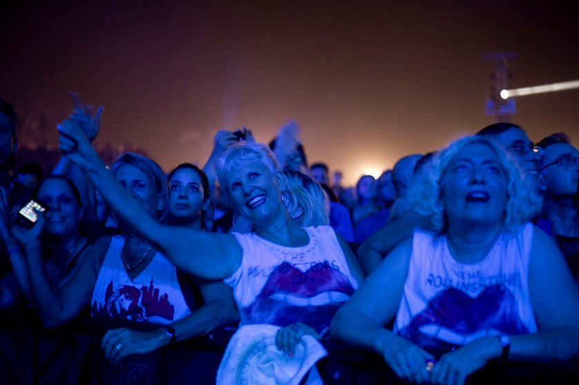 APTOPIX Mideast Israel Rolling Stones