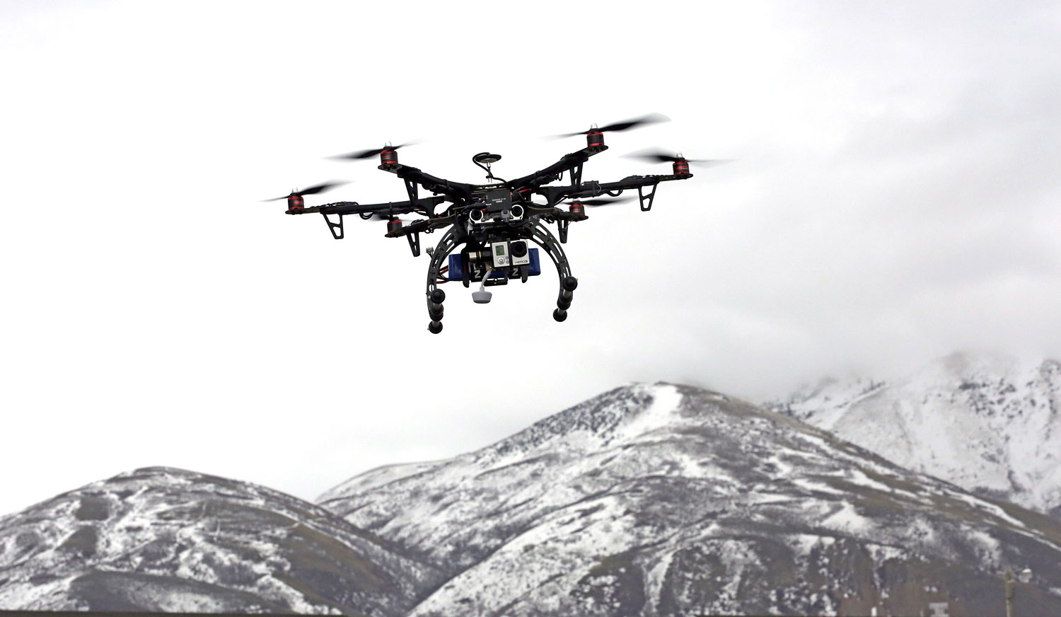 A drone is flown during a demonstration, in Brigham City, Utah, on Feb. 13, 2014