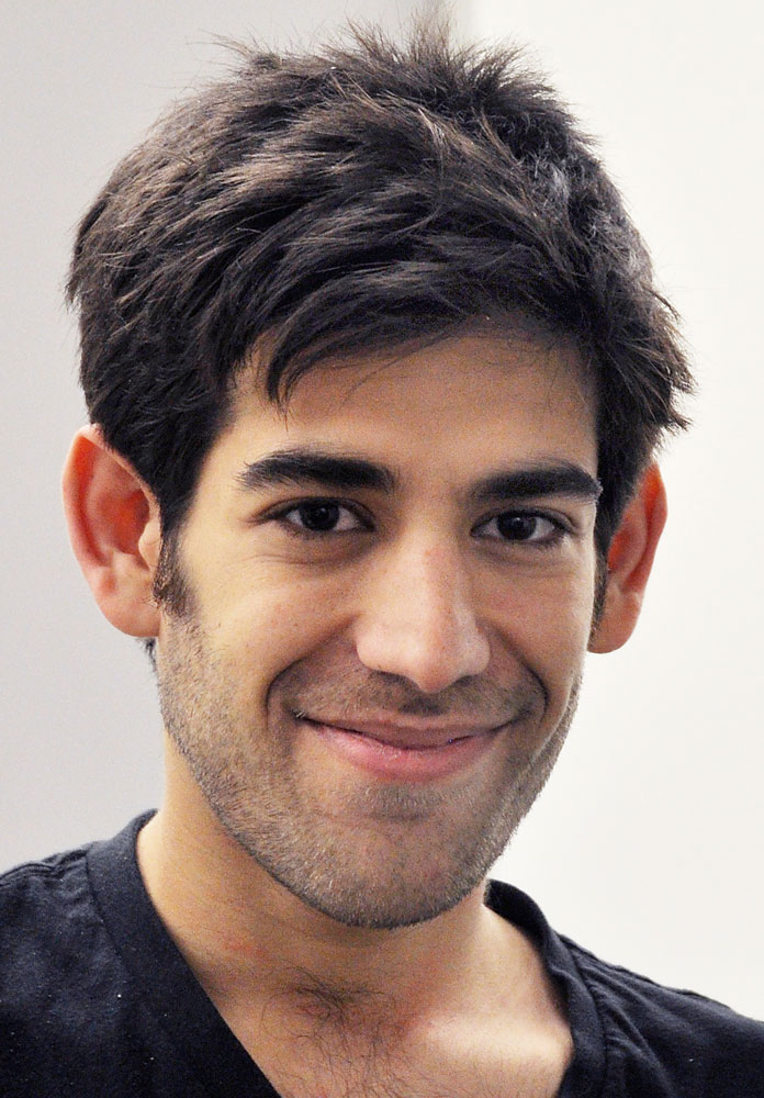 This Dec. 8, 2012 file photo provided by ThoughtWorks shows Aaron Swartz, in New York.