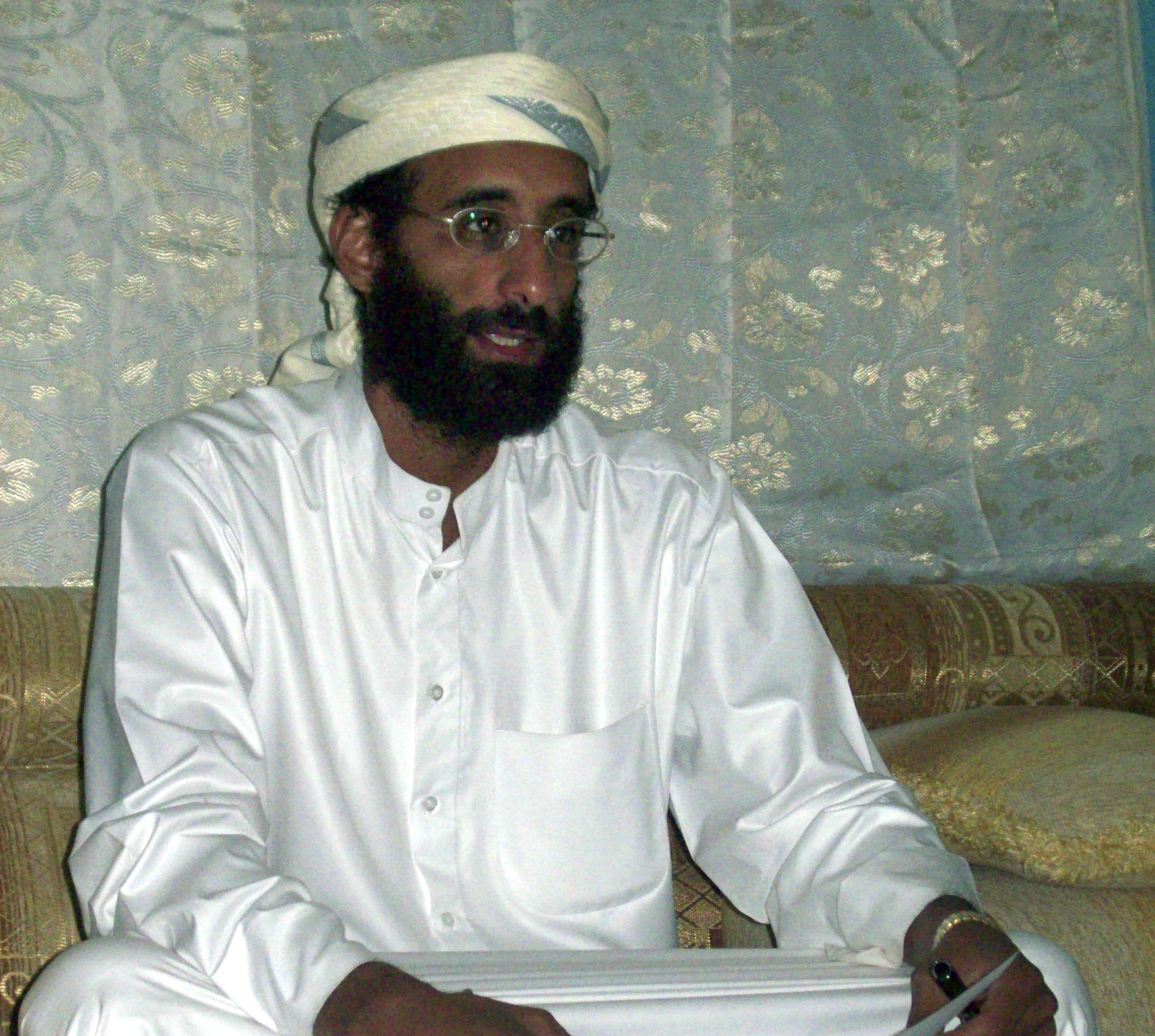 This October 2008 file photo shows Anwar al-Awlaki in Yemen. He was killed in a U.S. drone strike three years later, in 2011