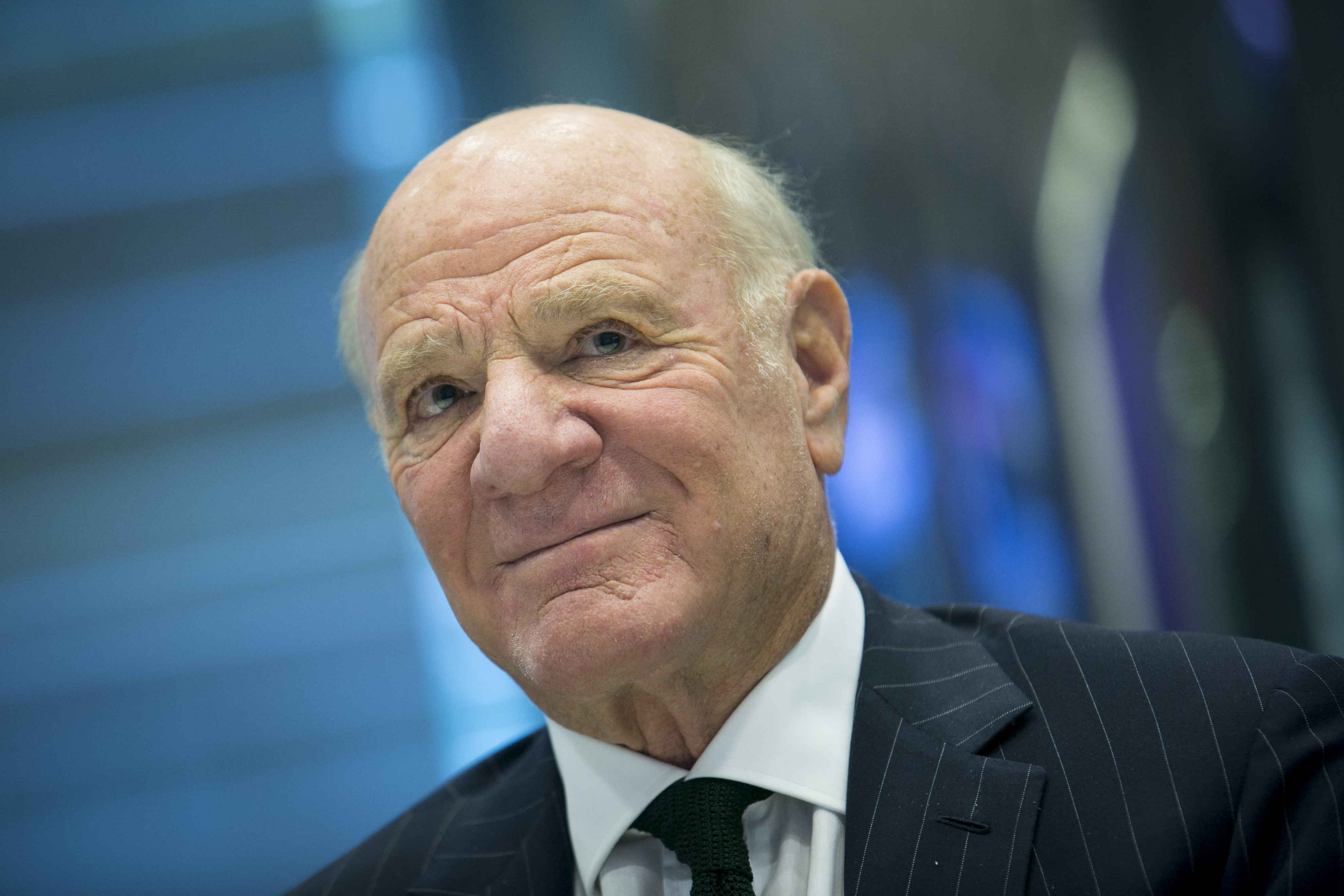 Barry Diller, chairman and chief executive officer of IAC, pauses during an interview in New York City on April 1, 2014