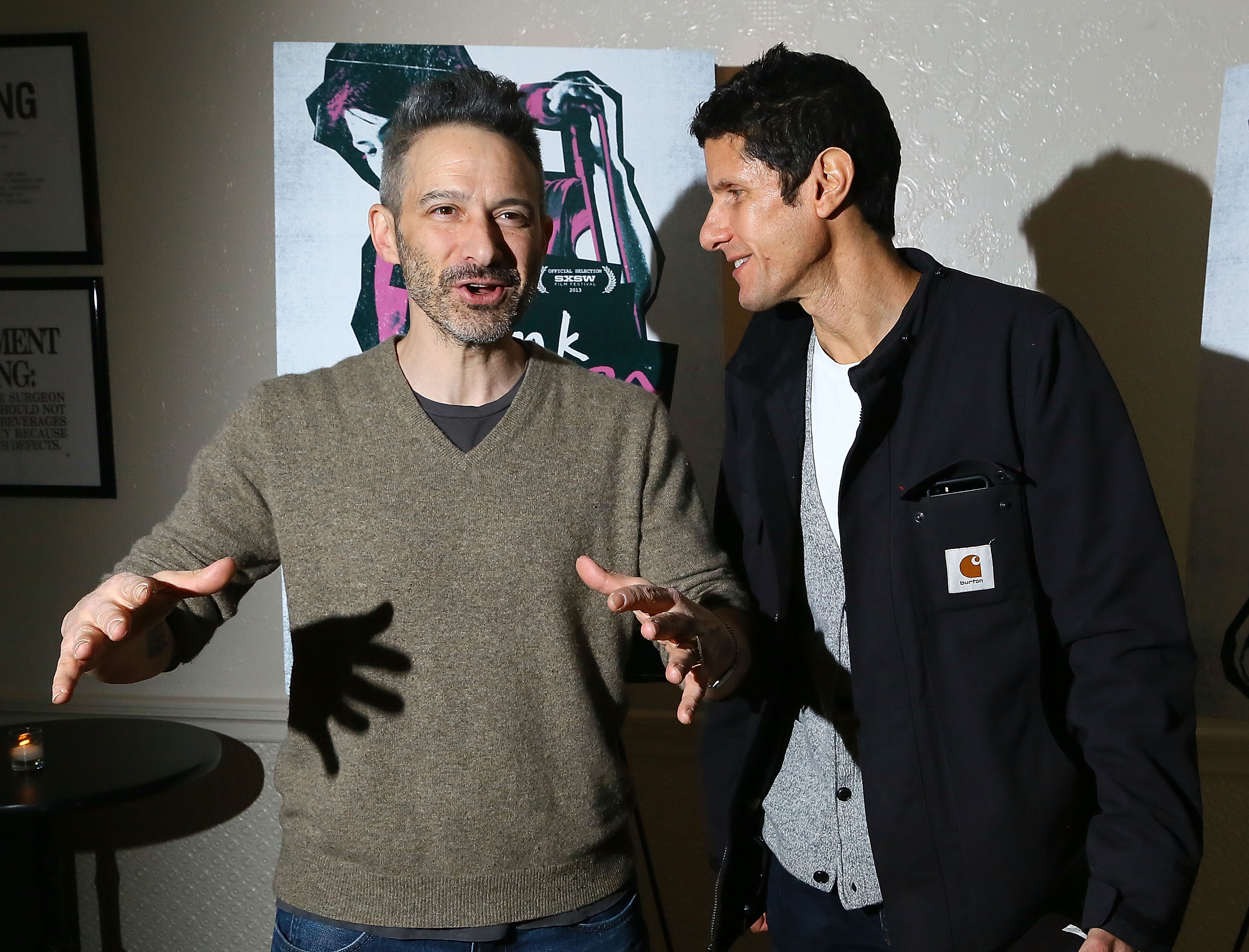 Beastie Boys rappers Adam Horovitz and Michael Diamond attend  The Punk Singer  screening at the Ace Hotel in New York City on Nov. 24, 2013.