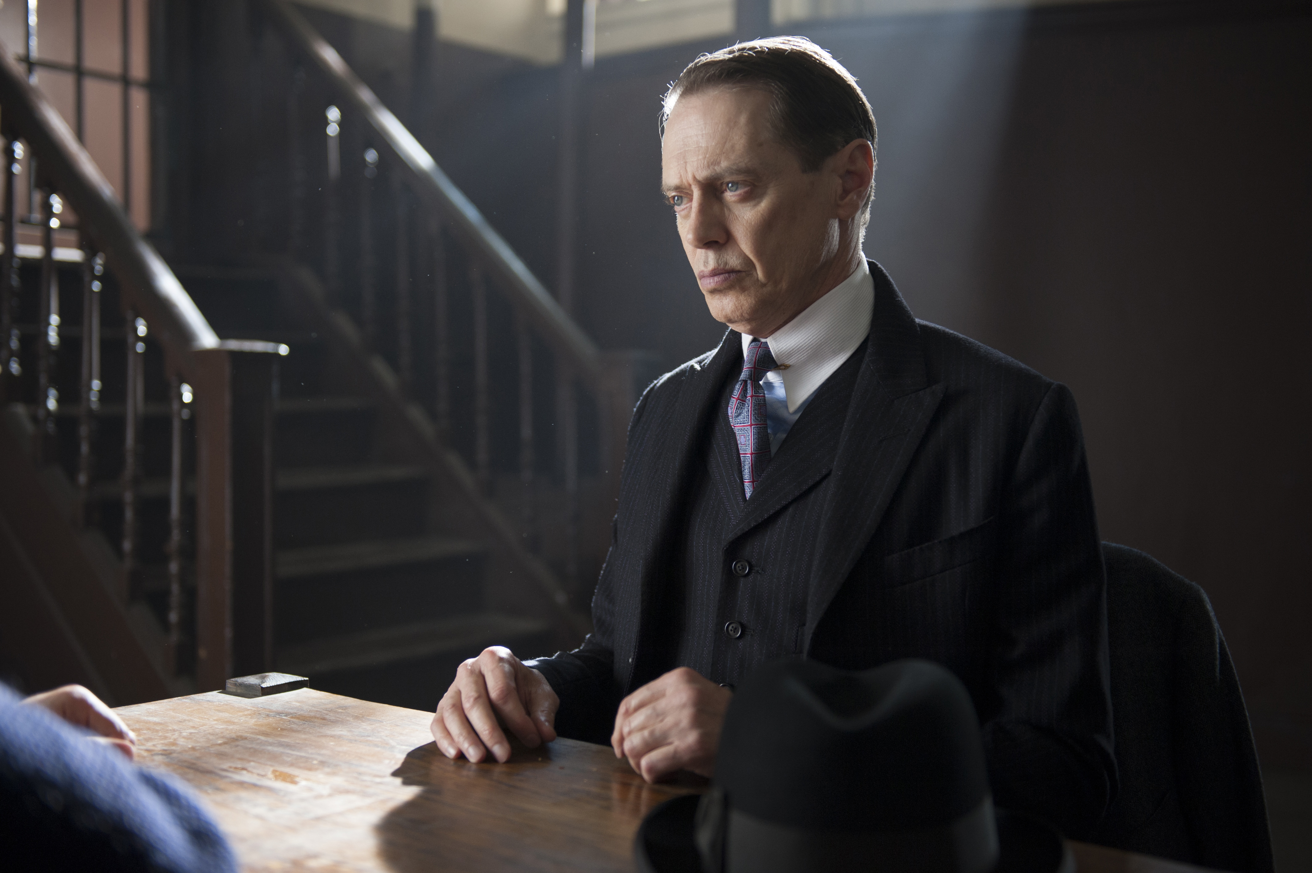 Nucky Thompson (Steve Buscemi) might look a few years older by the time we see him for Season 5 of 'Boardwalk Empire.'