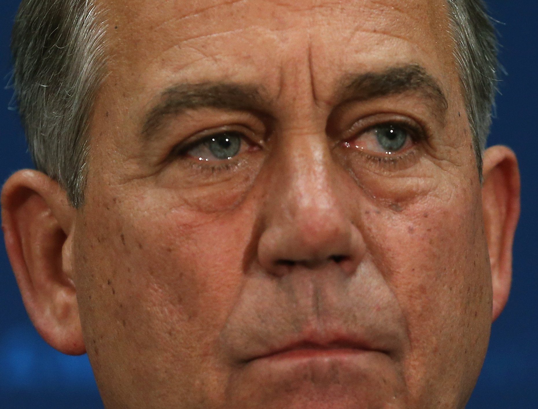 House Speaker John Boehner participates in a news conference at the U.S. Capitol June 10, 2014 in Washington, DC.