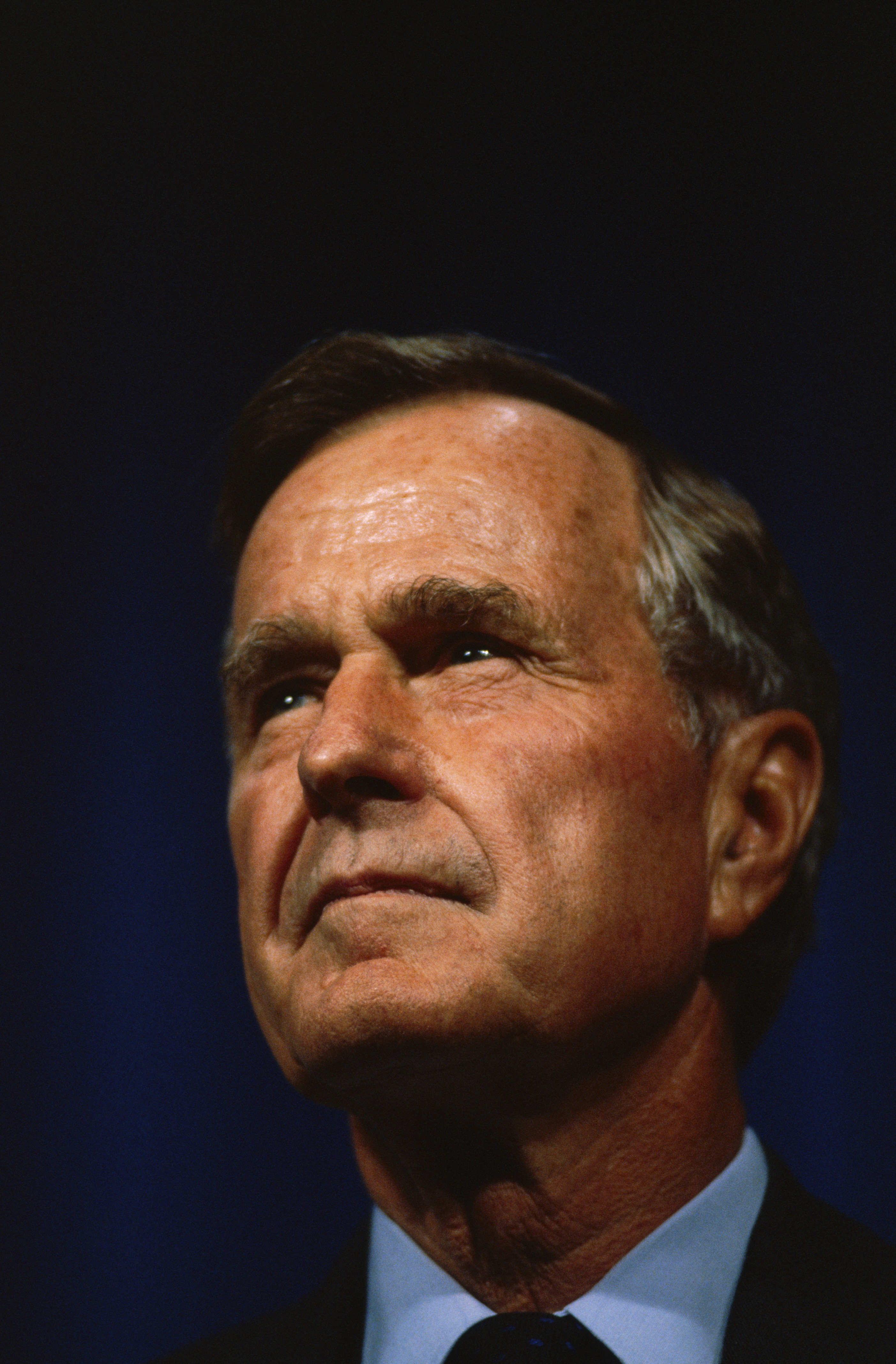 George H. W. Bush attends a dedication at the George R. Brown Convention Center in Houston on Oct. 1, 1993.