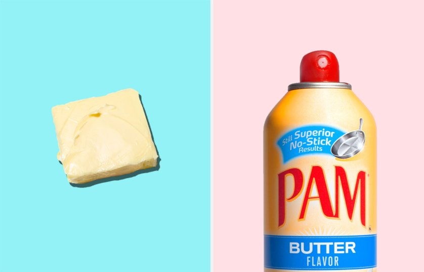 Which is better for you: Real butter or spray on fake butter?