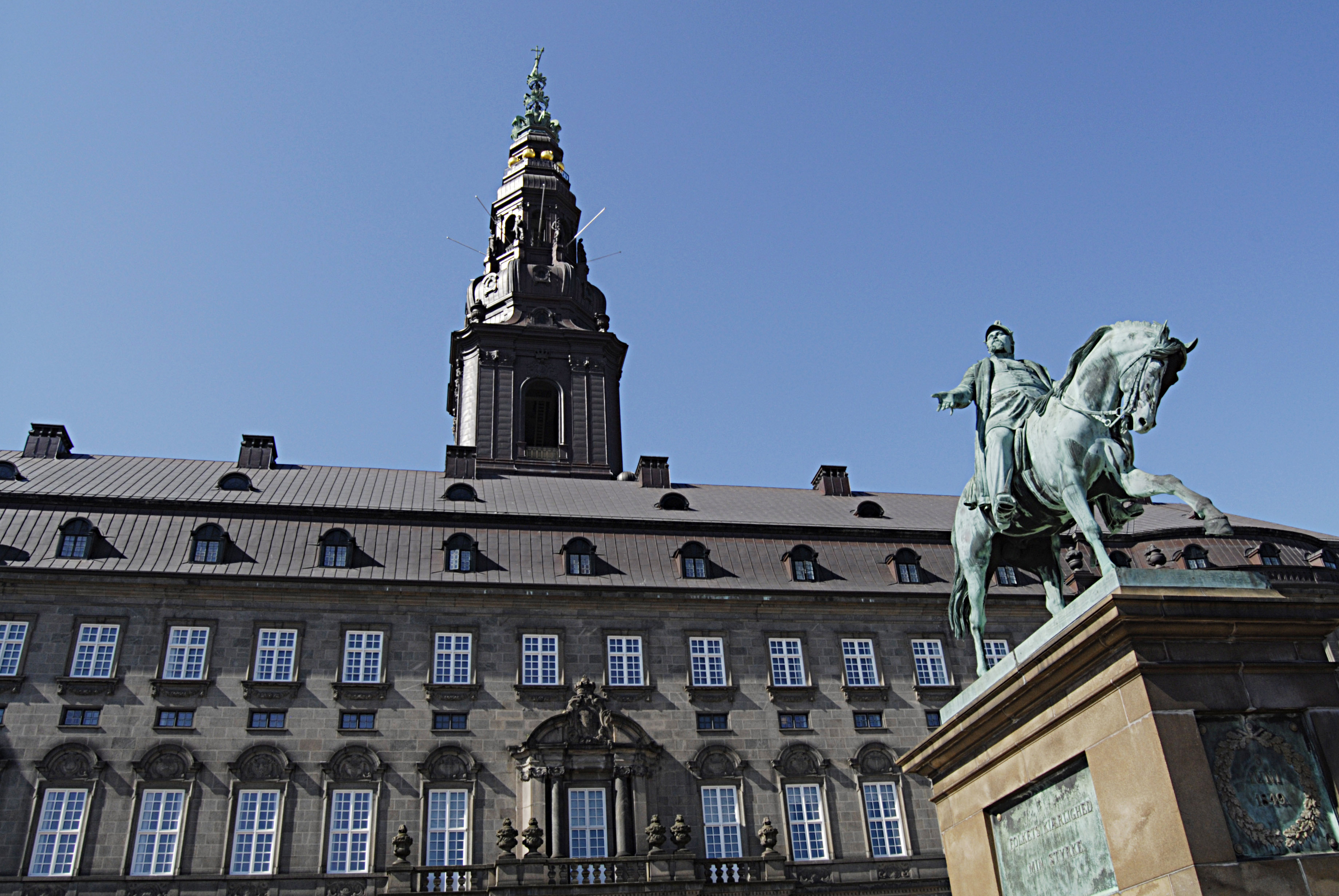 Christiansborg palace where the Danish parliament resides April 28, 2014.