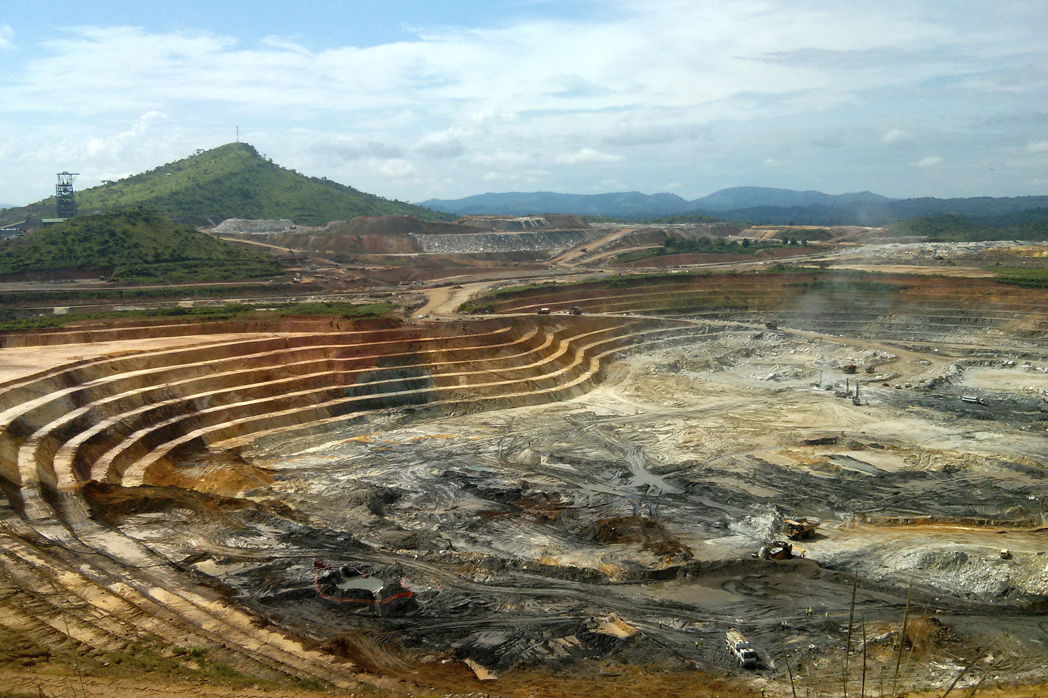 The KCD open pit gold mine at the Kibali mining site in northeast Democratic Republic of Congo, May 1, 2014.