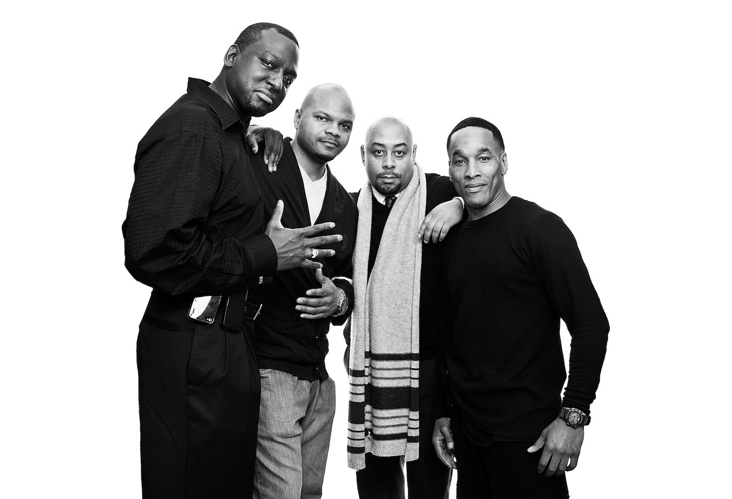 Four of the Central Park 5, Yusef Salaam, Kevin Richardson, Raymond Santana, Korey Wise during an interview with TIME in 2013.