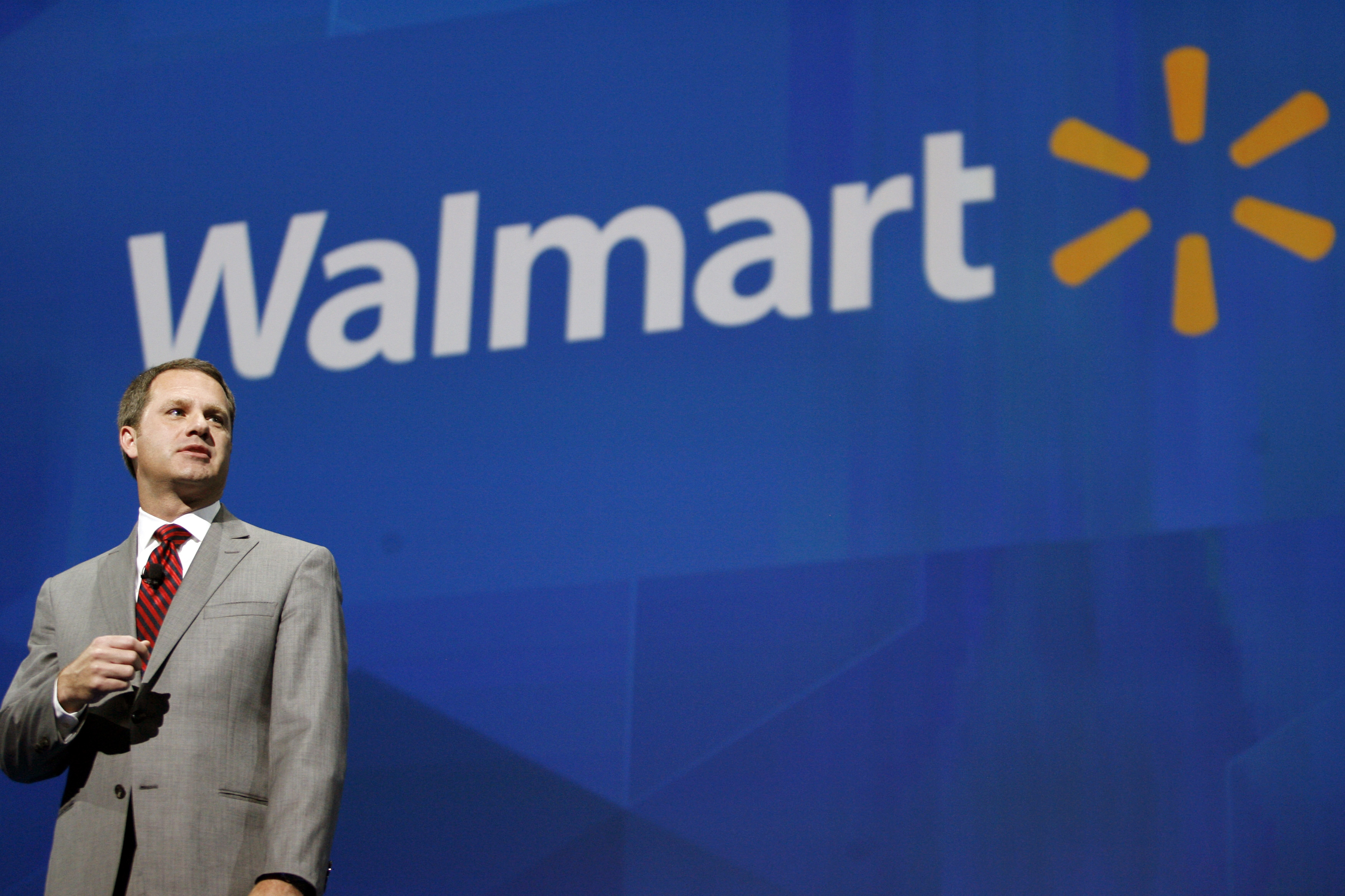 Doug McMillon, President and CEO, Wal-Mart International, speaks at the shareholders meeting in Fayetteville, Ark., on June 7, 2013.