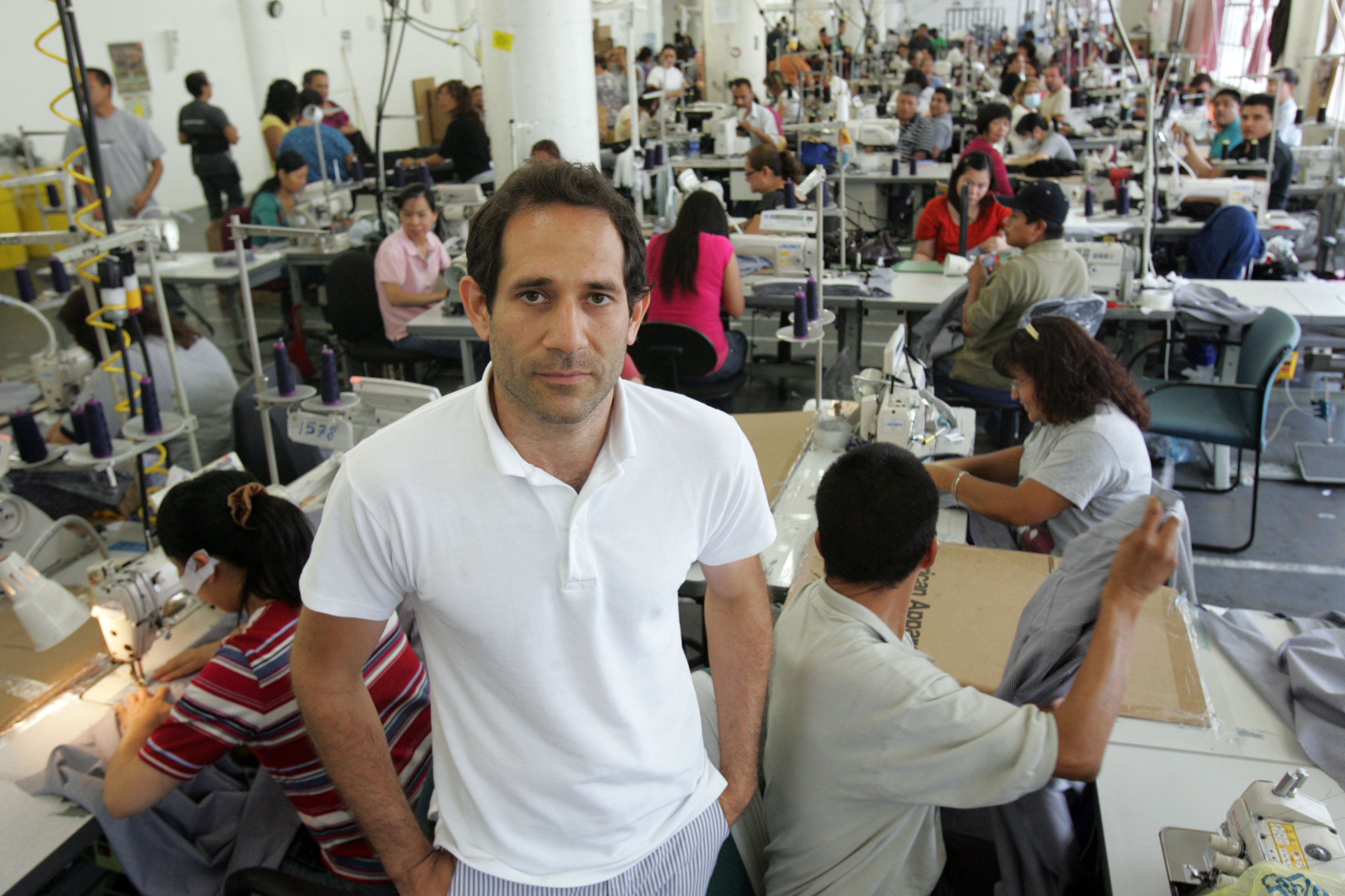 American Apparel ousted its CEO, Dov Charney, who has been the target of lawsuits alleging inappropriate sexual conduct with female employees in Los Angeles, California on June 19, 2014