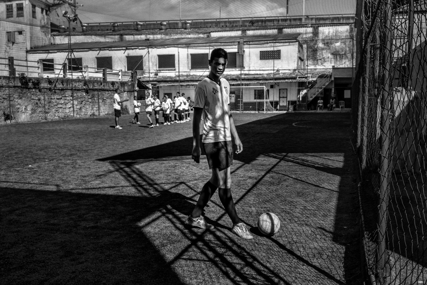 A player from the Sao Cristovao soccer team is seen in Rio de Janeiro. The team is an important school for young footballers.