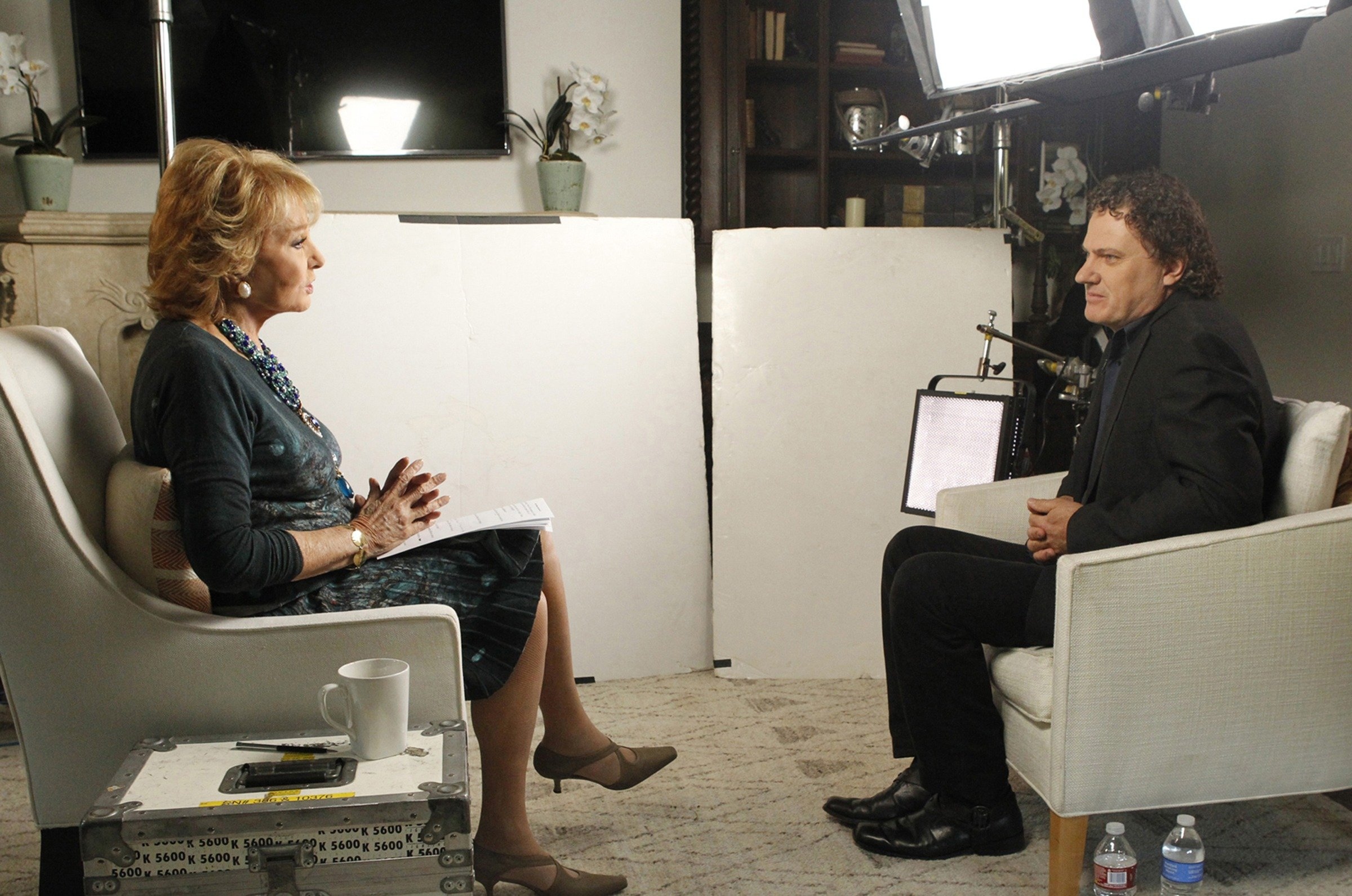 Barbara Walters is shown interviewing Peter Rodger, the father of Isla Vista shooter Elliot Rodger, June 26, 2014.