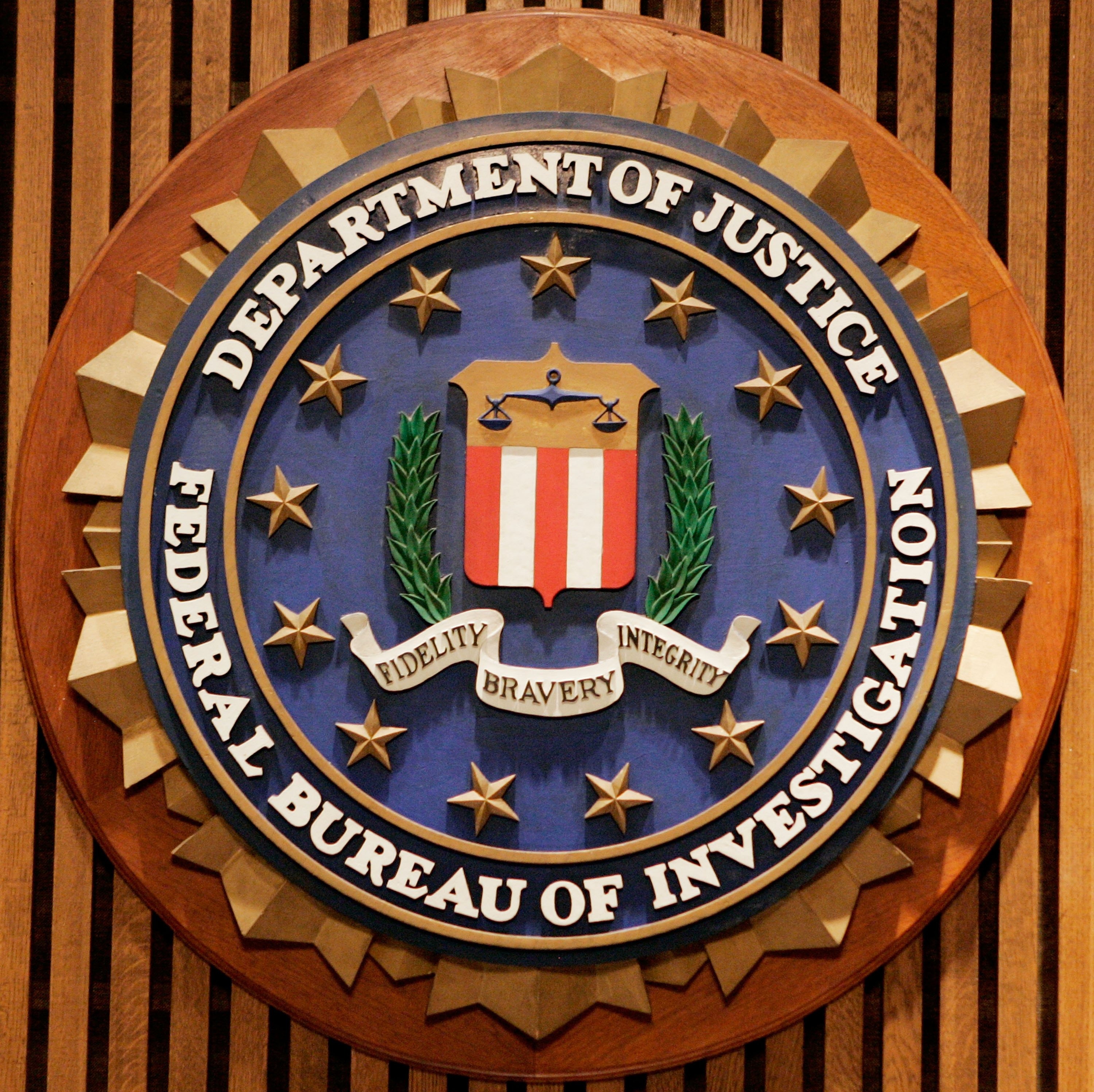 The Federal Bureau of Investigation seal is shown at the FBI Headquarters July 26, 2006 in Washington, DC.