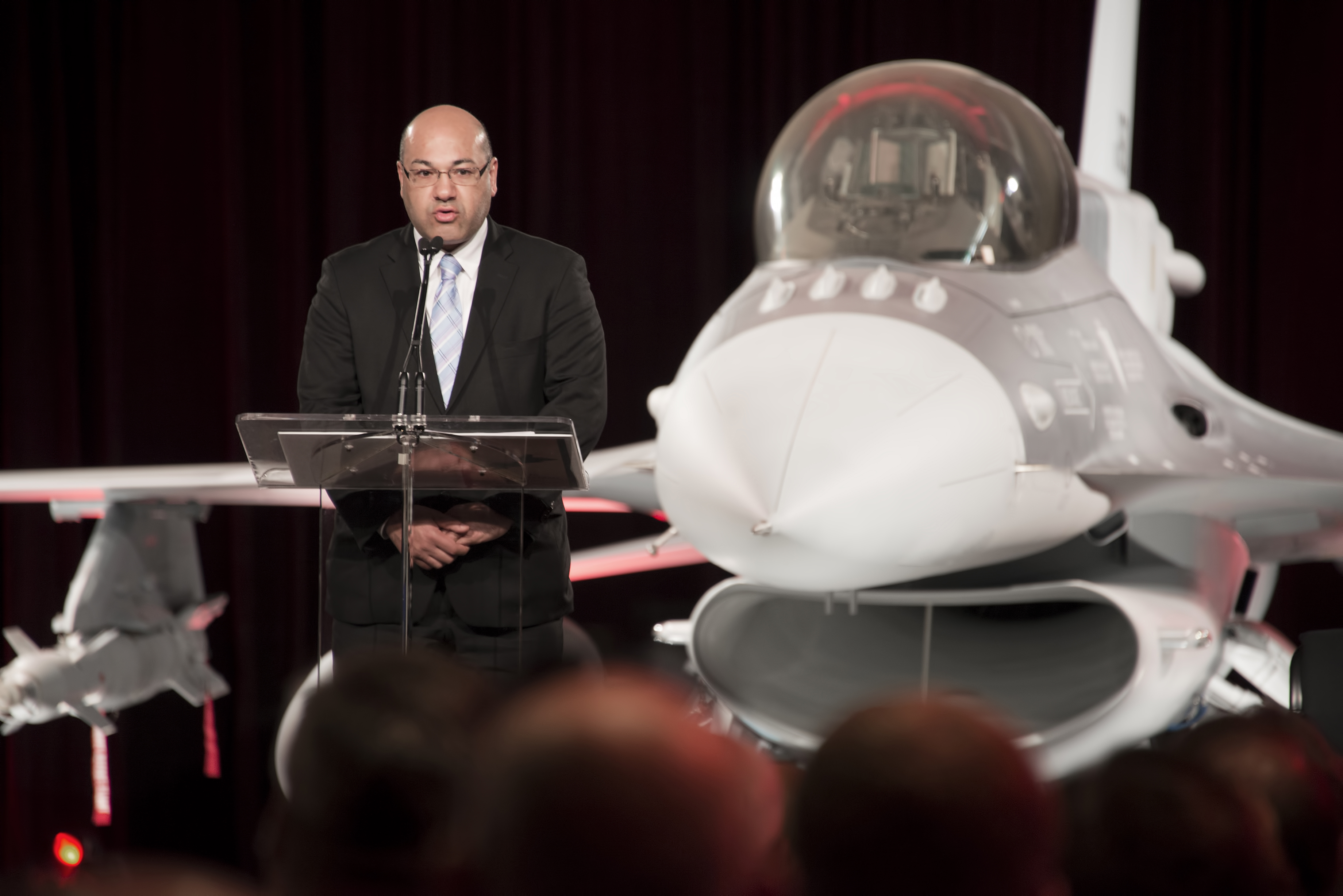 Lukman Faily, Iraq's ambassador to the U.S., accepts his nation's first F-16 fighter at the Lockheed factory in Fort Worth June 5.