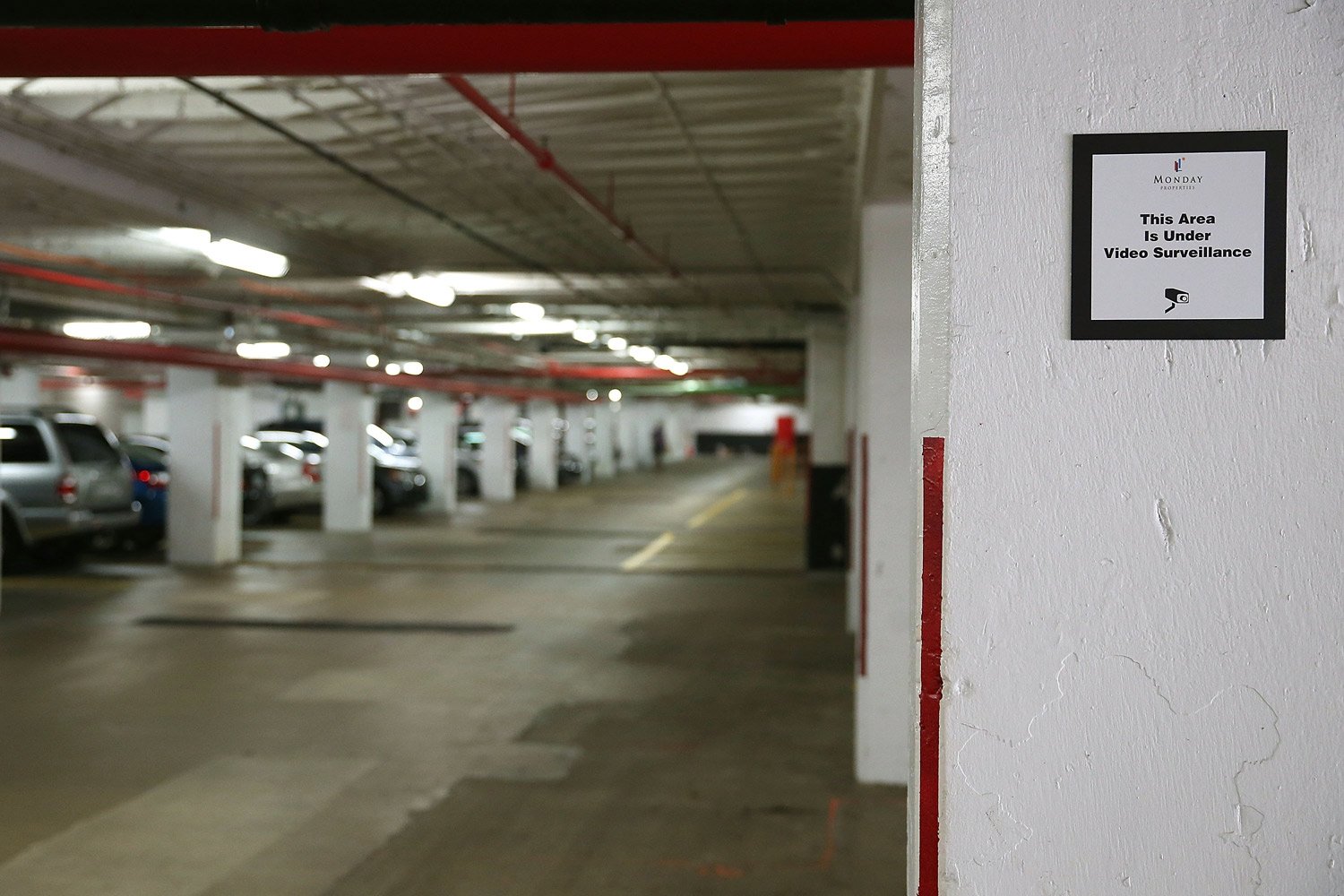 A view of the inside of the parking garage where Washington Post reporter Bob Woodward held late night meetings with Deep Throat, his Watergate source who later turned out to be Mark Felt, the FBI's former No. 2 official, August 27, 2013 in Arlington, Virginia.